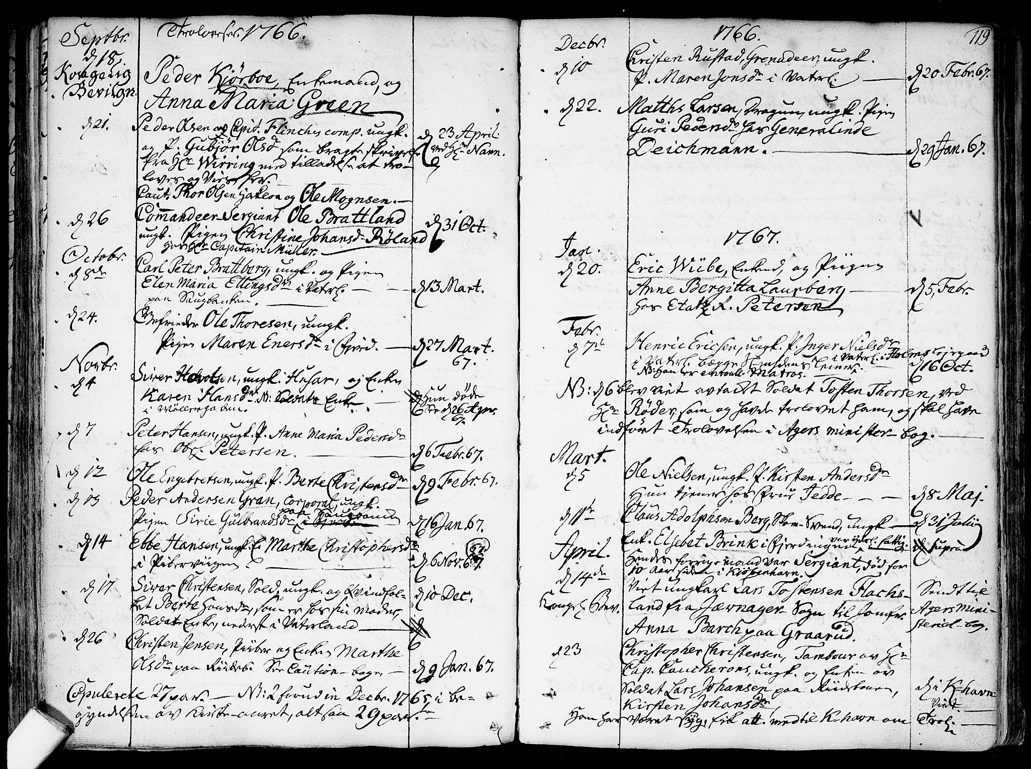 SAO, Garnisonsmenigheten Kirkebøker, F/Fa/L0002: Ministerialbok nr. 2, 1757-1776, s. 119