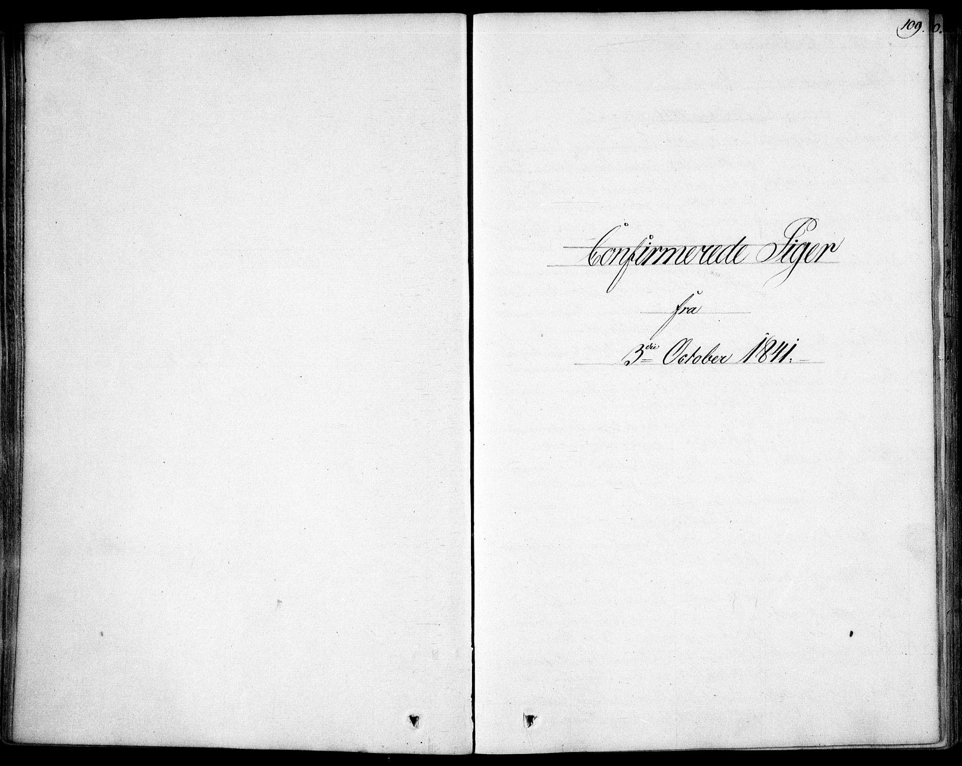 SAO, Garnisonsmenigheten Kirkebøker, F/Fa/L0007: Ministerialbok nr. 7, 1828-1881, s. 109
