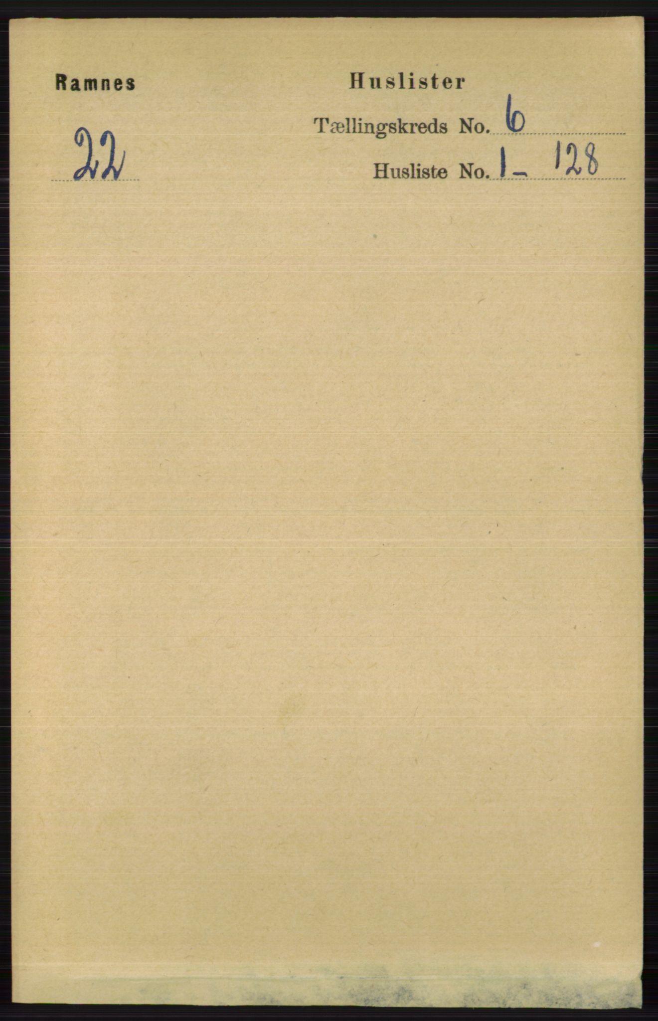 RA, Folketelling 1891 for 0718 Ramnes herred, 1891, s. 3188