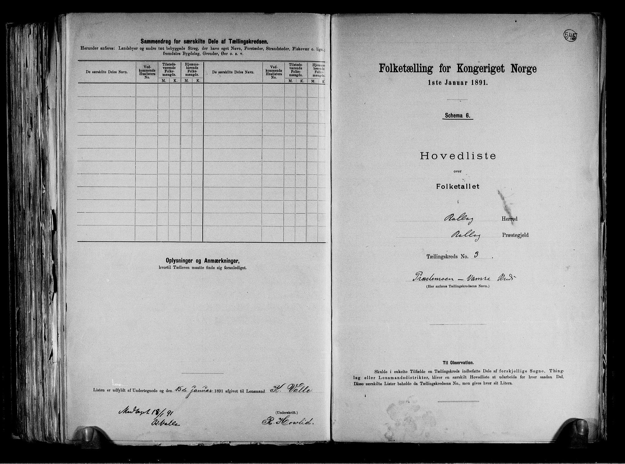 RA, Folketelling 1891 for 0632 Rollag herred, 1891, s. 9