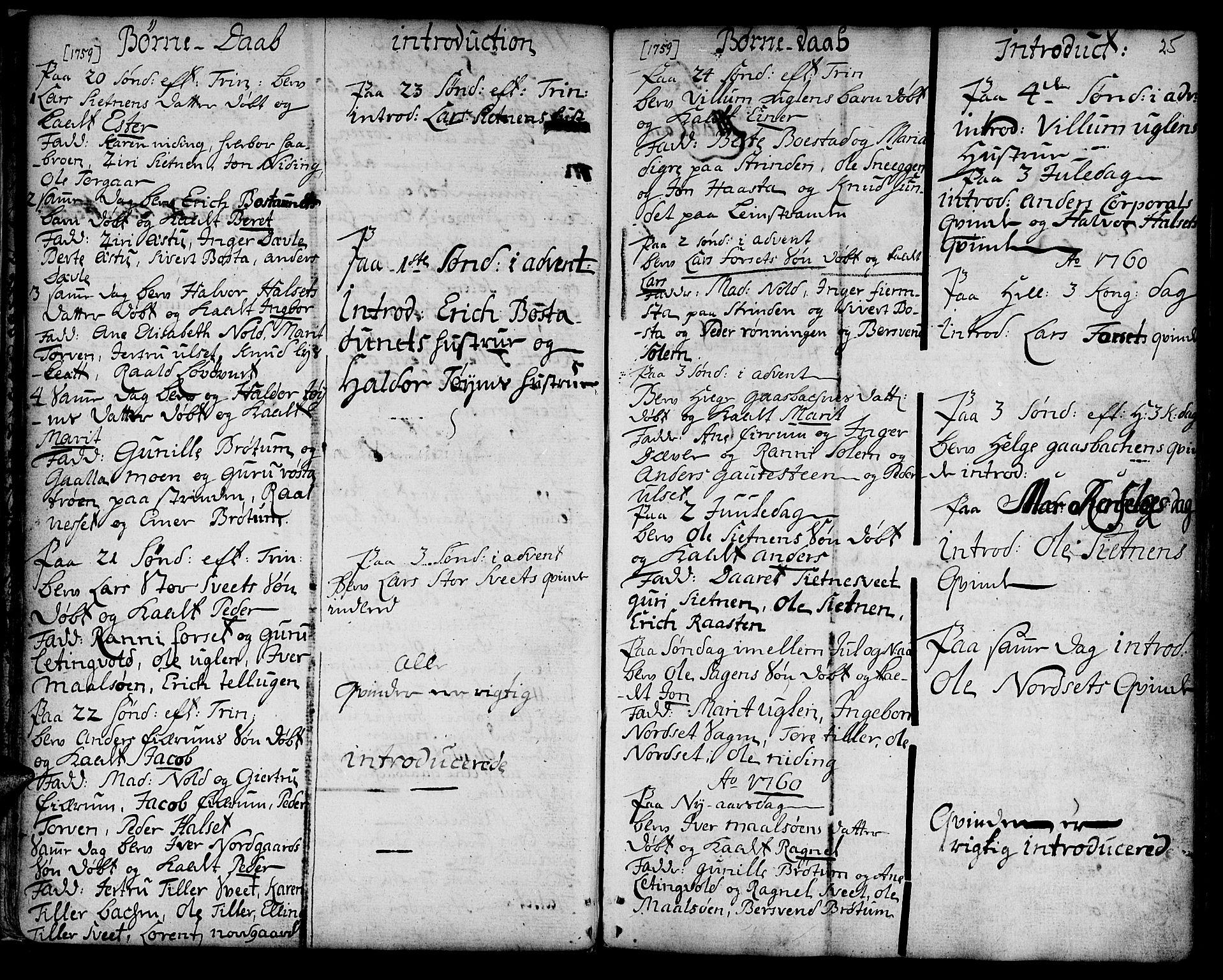 SAT, Ministerialprotokoller, klokkerbøker og fødselsregistre - Sør-Trøndelag, 618/L0437: Ministerialbok nr. 618A02, 1749-1782, s. 25