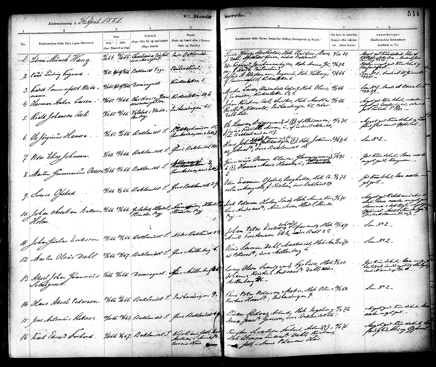 SAT, Ministerialprotokoller, klokkerbøker og fødselsregistre - Sør-Trøndelag, 604/L0188: Ministerialbok nr. 604A09, 1878-1892, s. 544