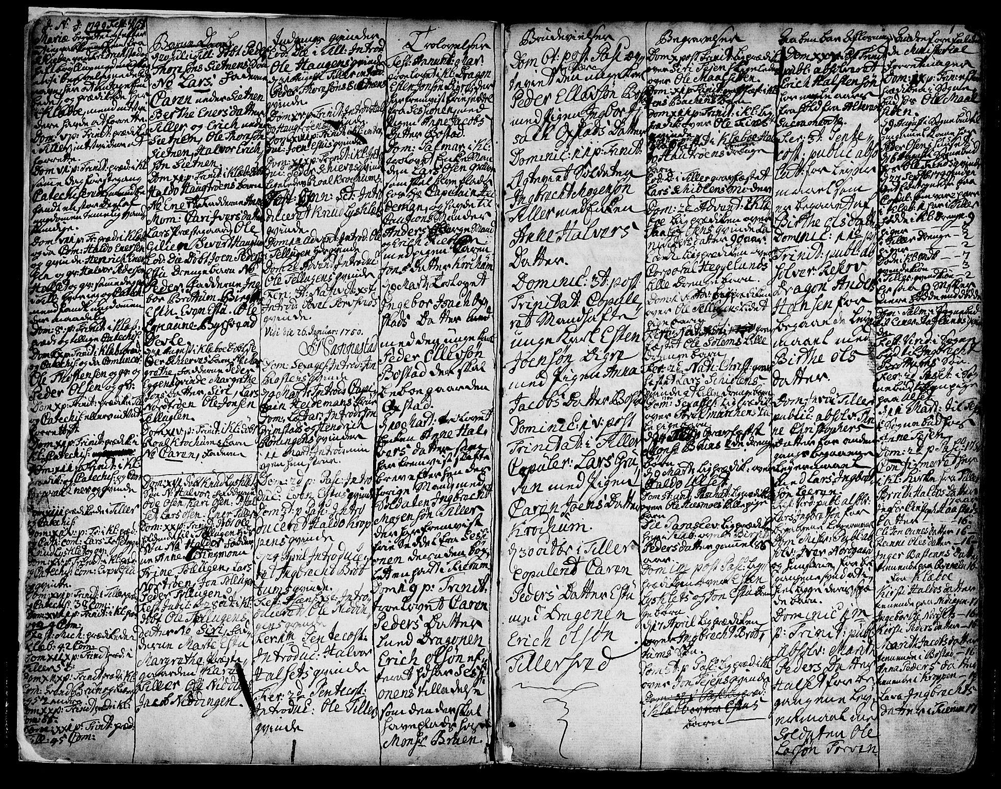SAT, Ministerialprotokoller, klokkerbøker og fødselsregistre - Sør-Trøndelag, 618/L0437: Ministerialbok nr. 618A02, 1749-1782, s. 1