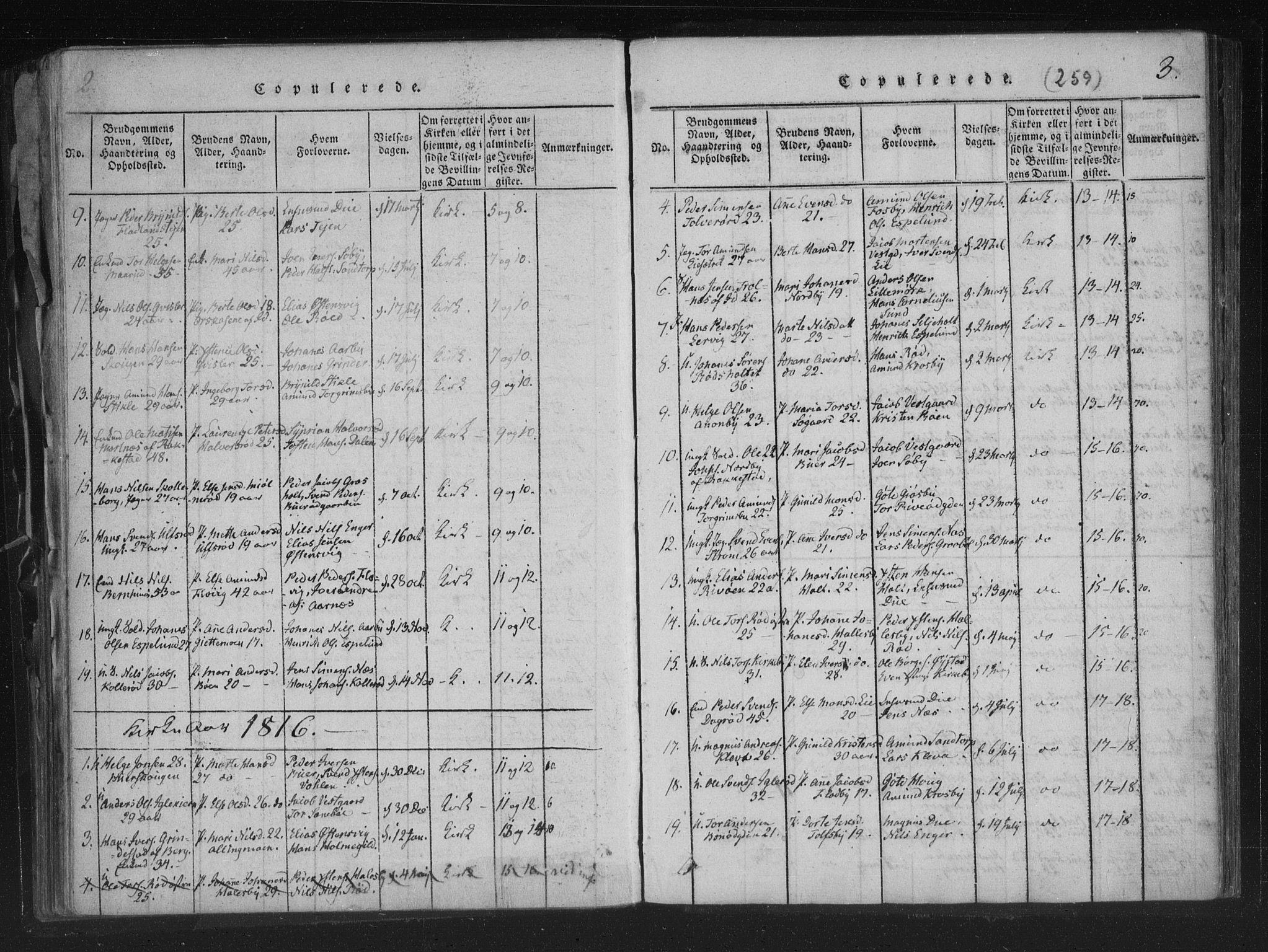 SAO, Aremark prestekontor Kirkebøker, F/Fc/L0001: Ministerialbok nr. III 1, 1814-1834, s. 2-3