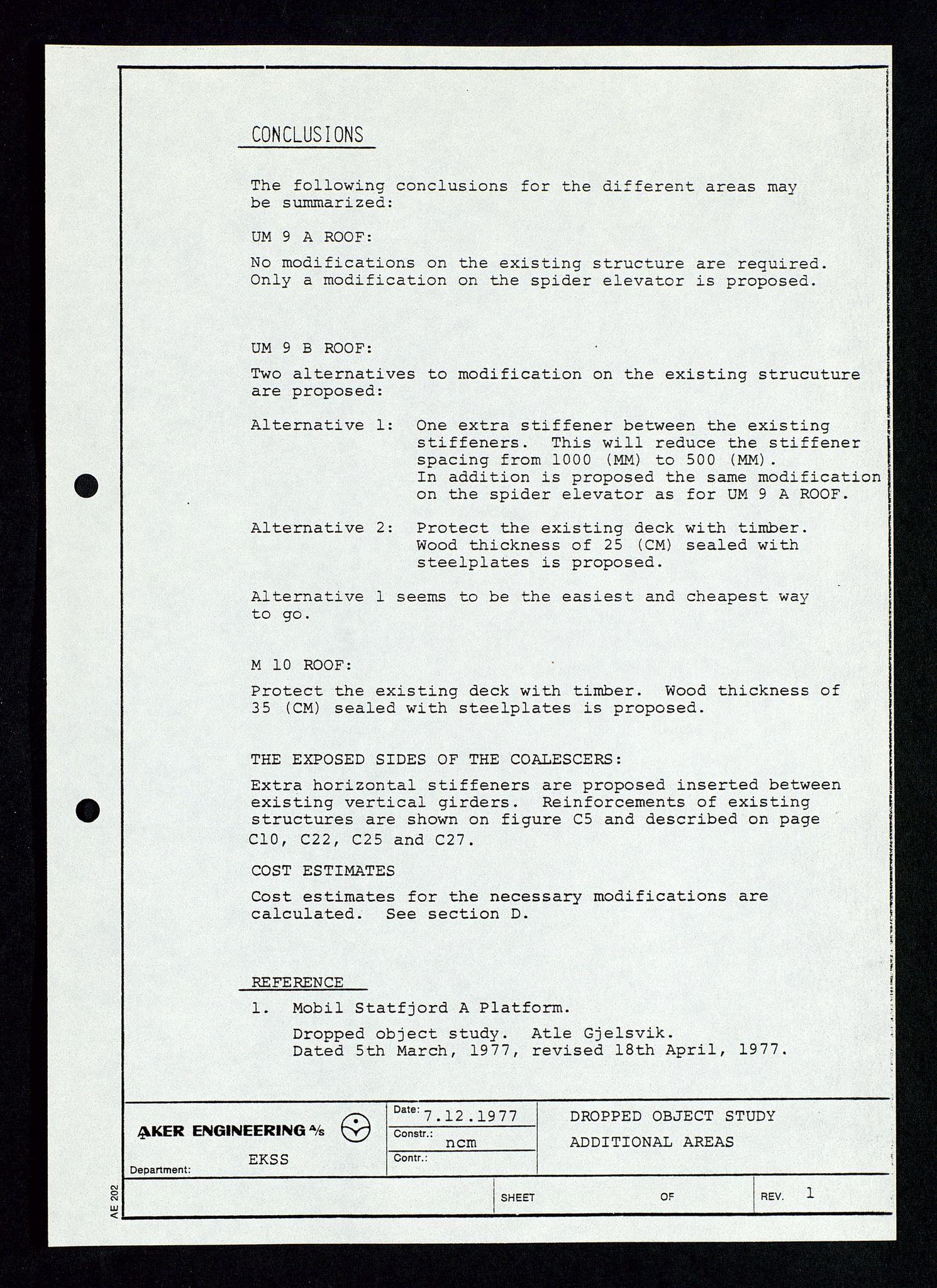 SAST, Pa 1339 - Statoil ASA, D/Dm/L0348: Gravitasjonsplattform betong, 1975-1978, s. 188