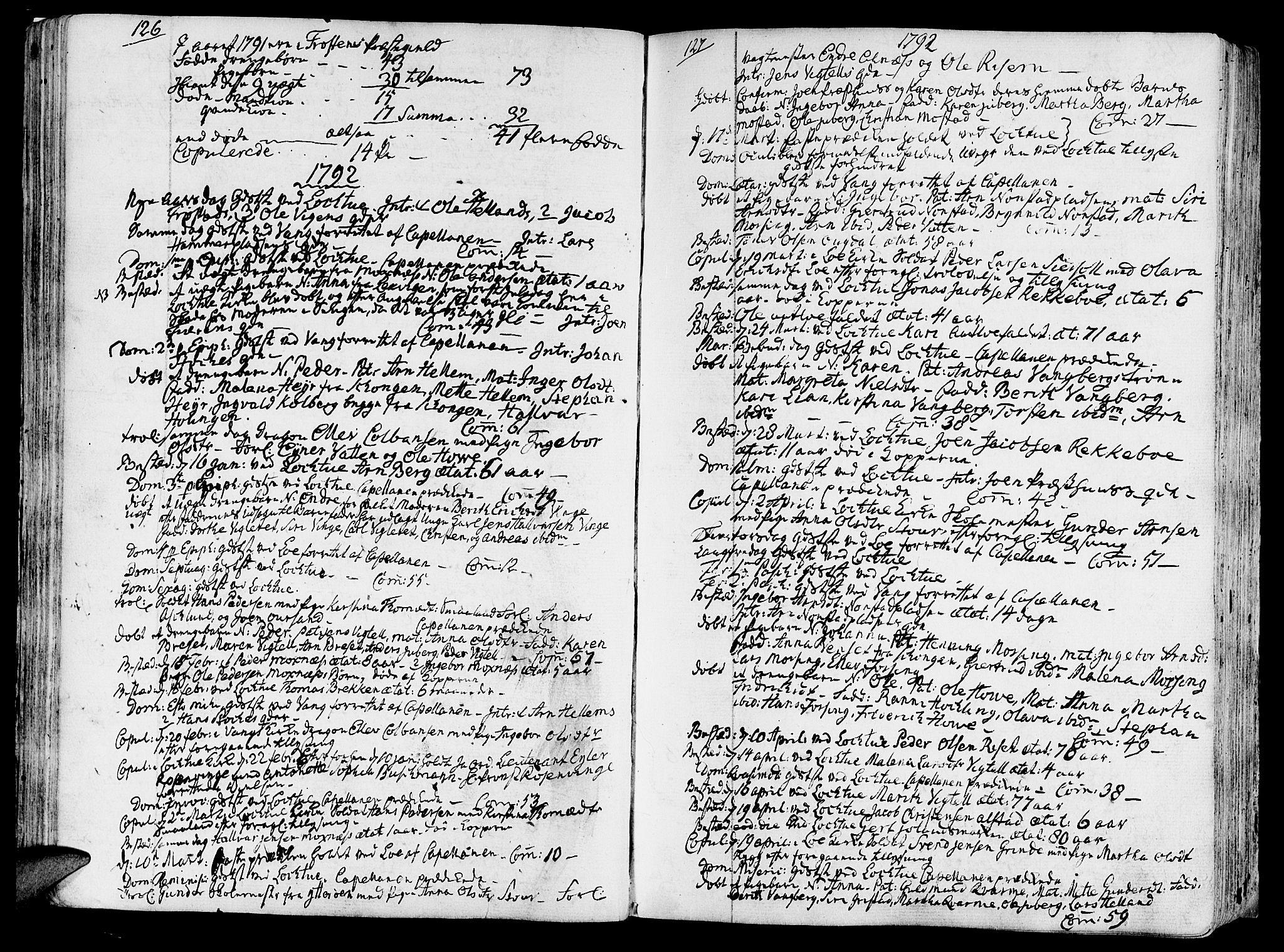 SAT, Ministerialprotokoller, klokkerbøker og fødselsregistre - Nord-Trøndelag, 713/L0110: Ministerialbok nr. 713A02, 1778-1811, s. 126-127