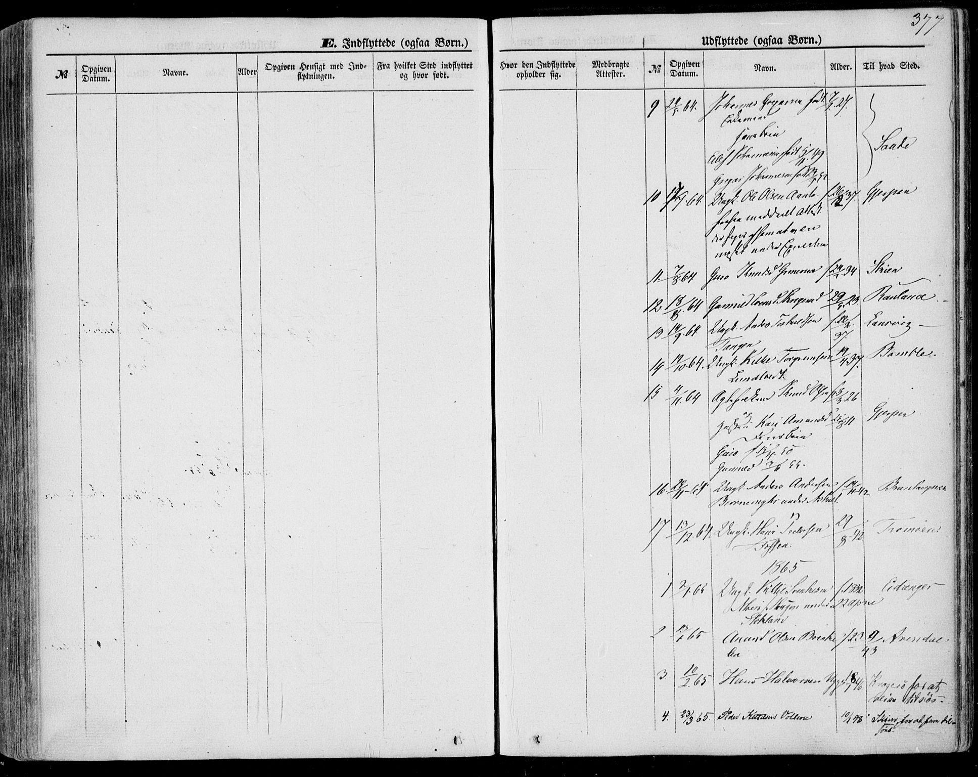 SAKO, Bø kirkebøker, F/Fa/L0009: Ministerialbok nr. 9, 1862-1879, s. 377