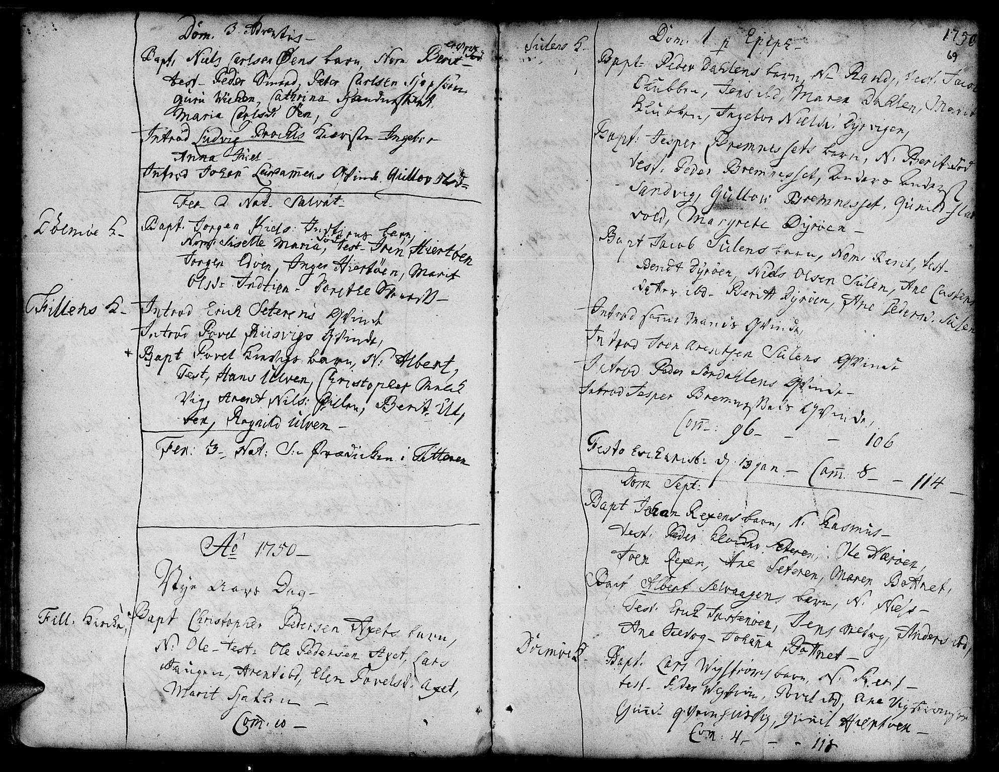 SAT, Ministerialprotokoller, klokkerbøker og fødselsregistre - Sør-Trøndelag, 634/L0525: Ministerialbok nr. 634A01, 1736-1775, s. 69