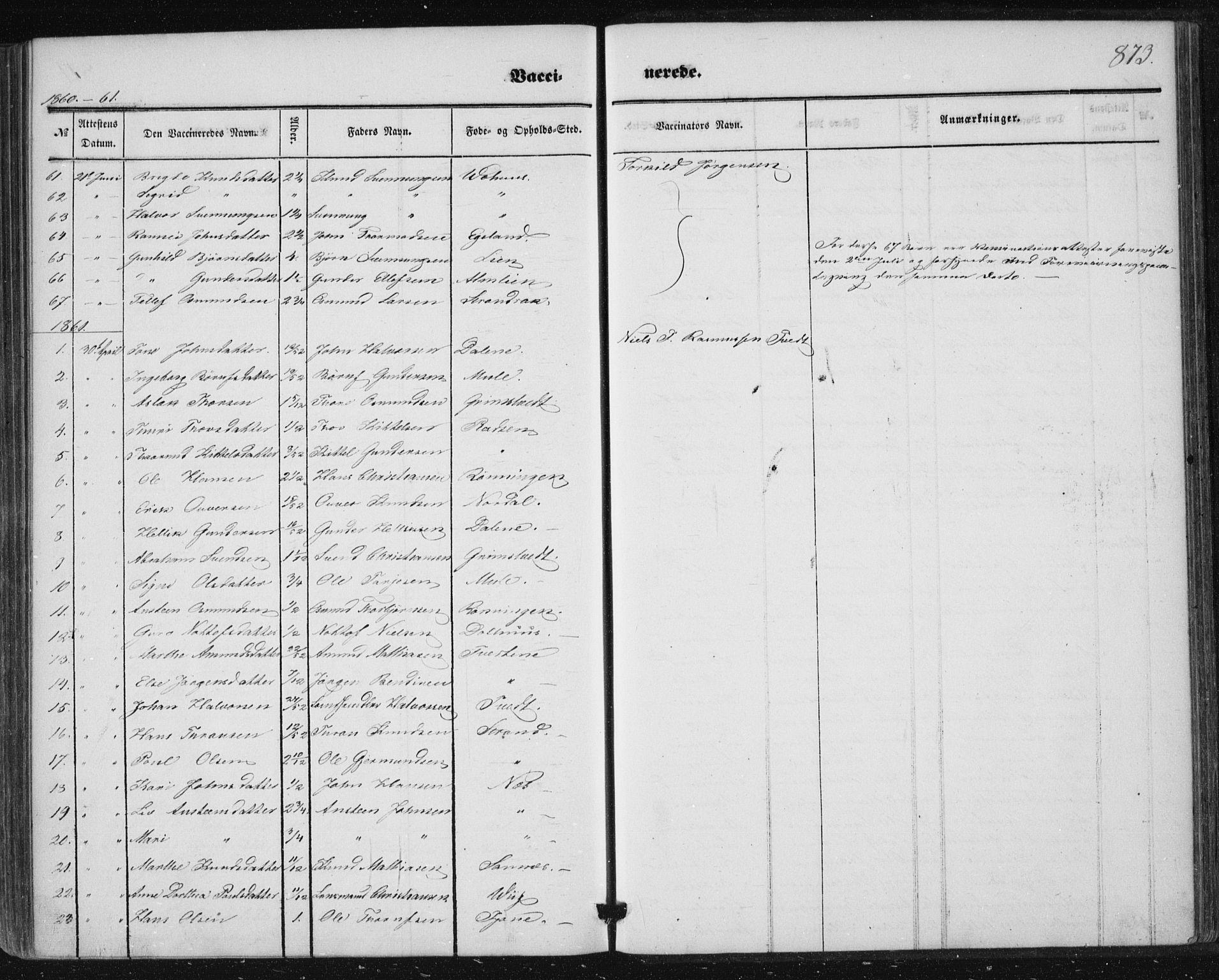 SAKO, Nissedal kirkebøker, F/Fa/L0003: Ministerialbok nr. I 3, 1846-1870, s. 872-873