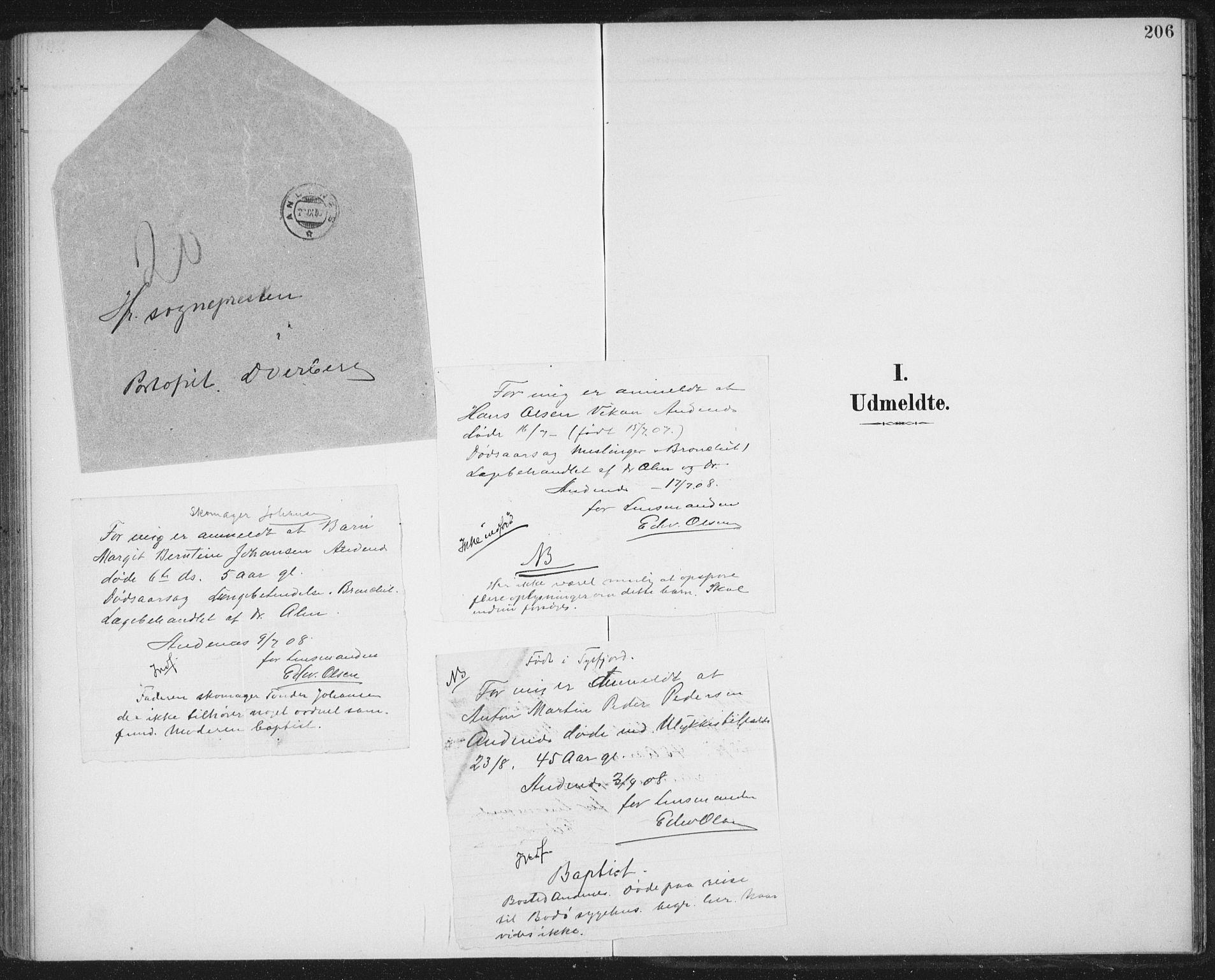 SAT, Ministerialprotokoller, klokkerbøker og fødselsregistre - Nordland, 899/L1437: Ministerialbok nr. 899A05, 1897-1908, s. 206