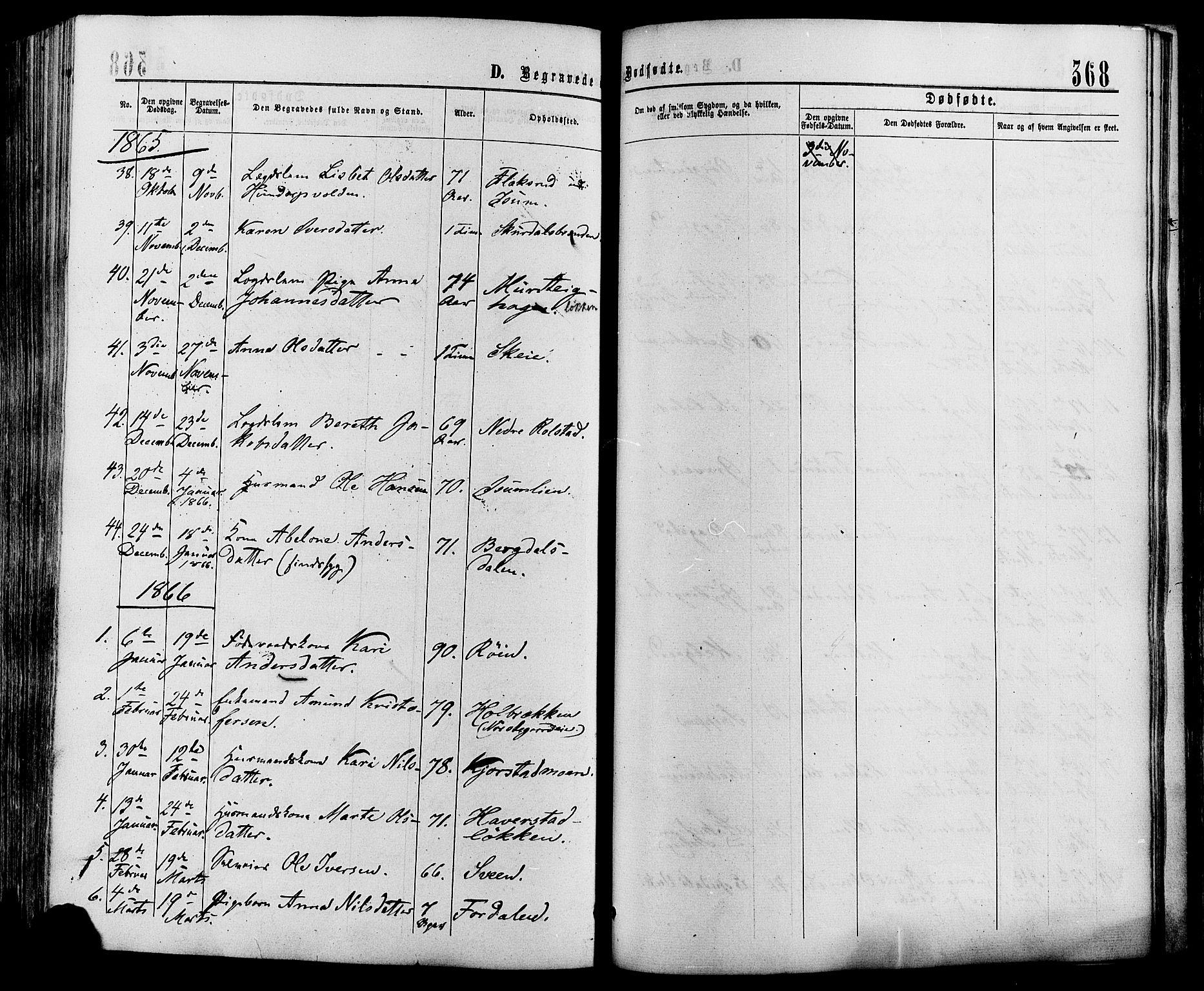 SAH, Sør-Fron prestekontor, H/Ha/Haa/L0002: Ministerialbok nr. 2, 1864-1880, s. 368