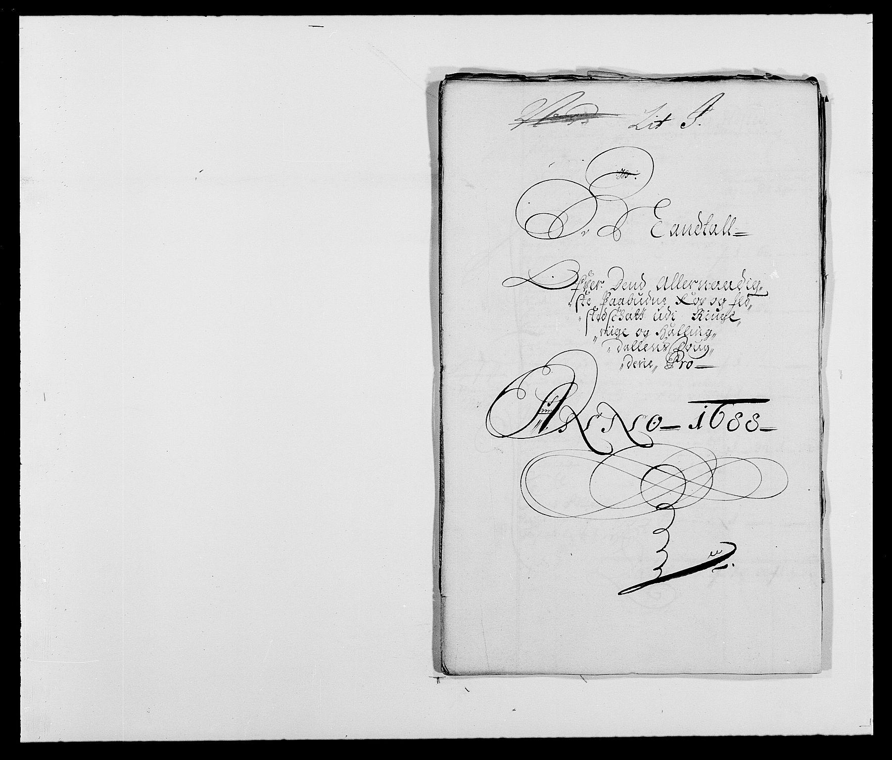 RA, Rentekammeret inntil 1814, Reviderte regnskaper, Fogderegnskap, R21/L1447: Fogderegnskap Ringerike og Hallingdal, 1687-1689, s. 200