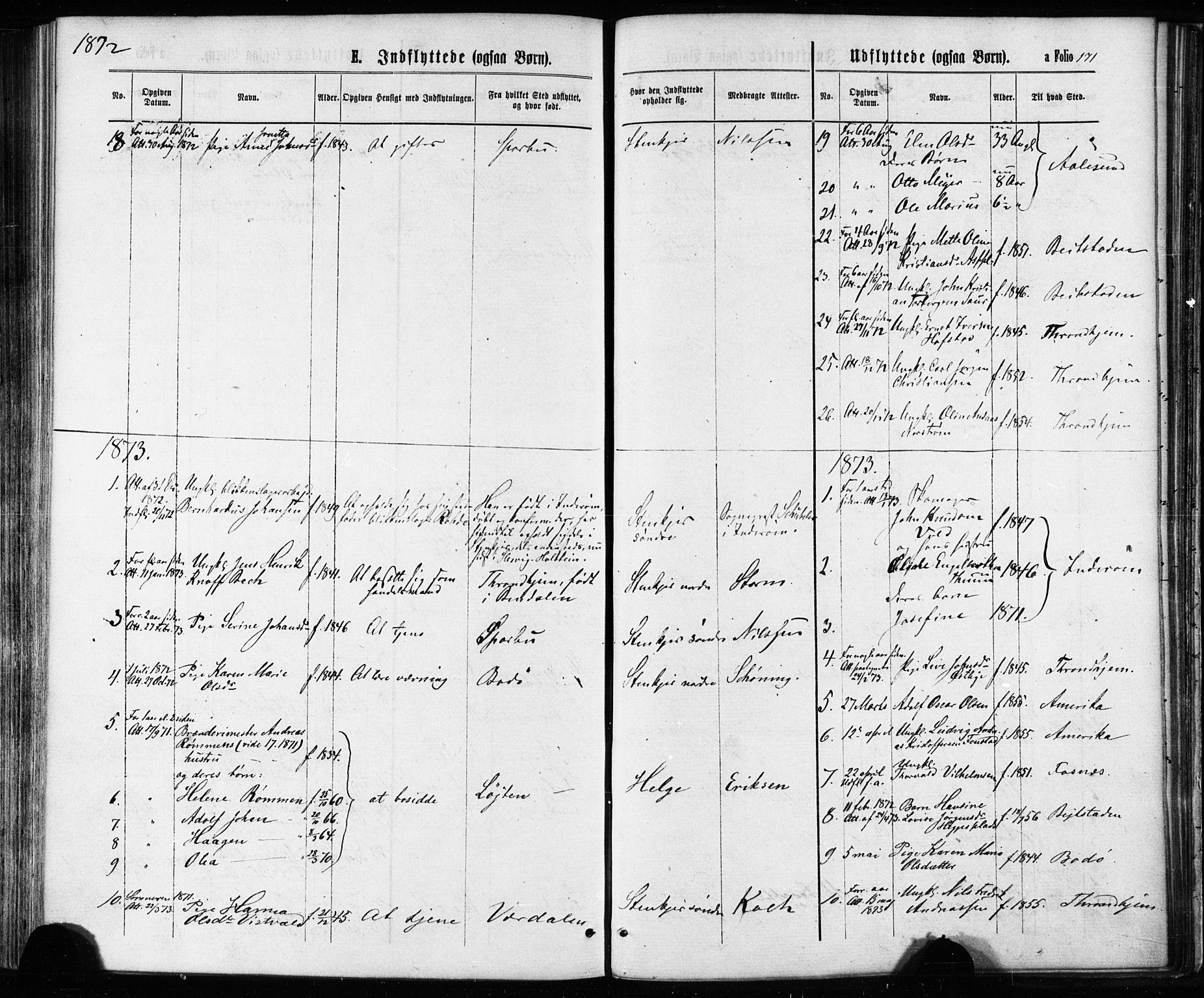 SAT, Ministerialprotokoller, klokkerbøker og fødselsregistre - Nord-Trøndelag, 739/L0370: Ministerialbok nr. 739A02, 1868-1881, s. 171