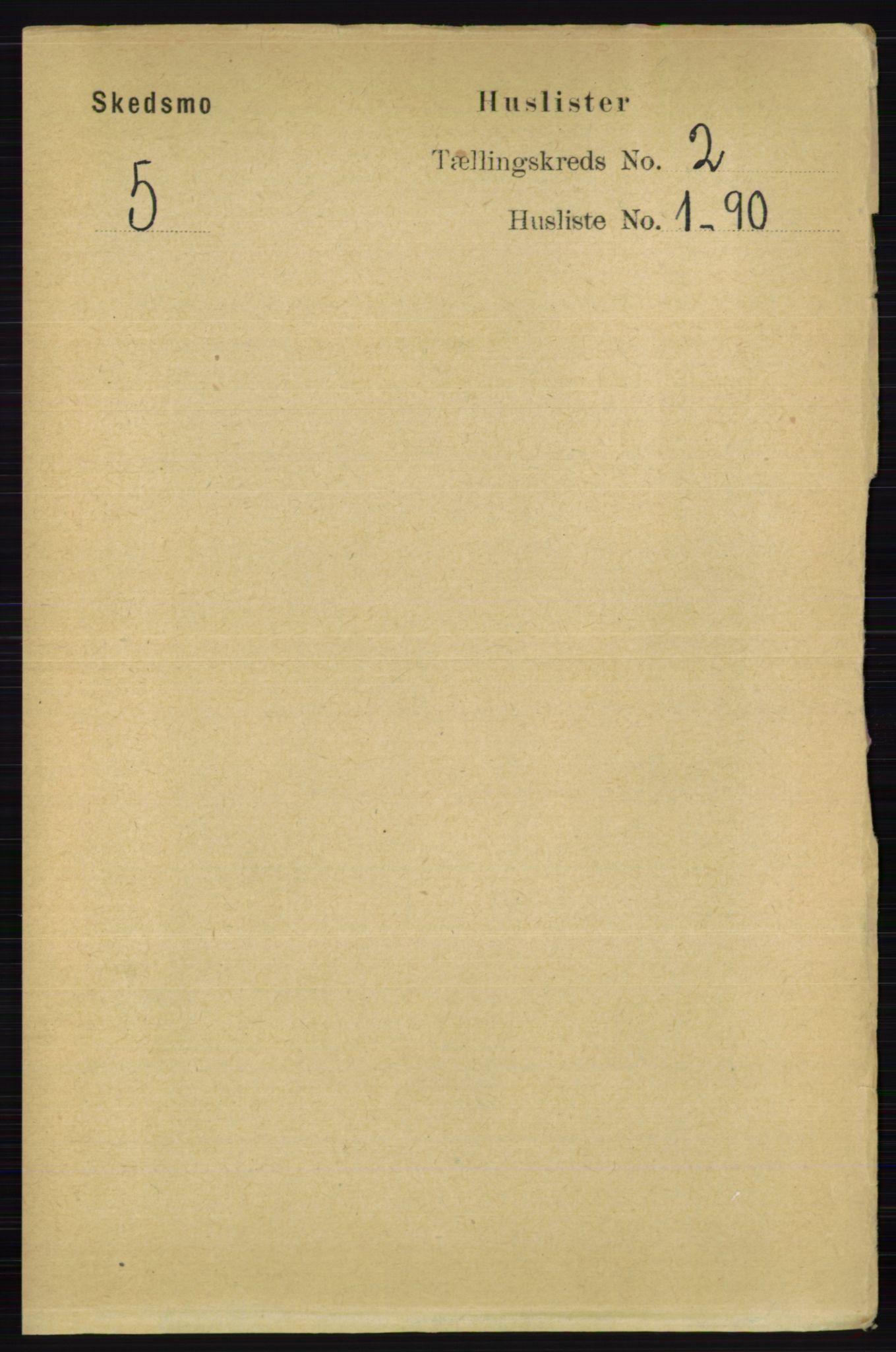 RA, Folketelling 1891 for 0231 Skedsmo herred, 1891, s. 509