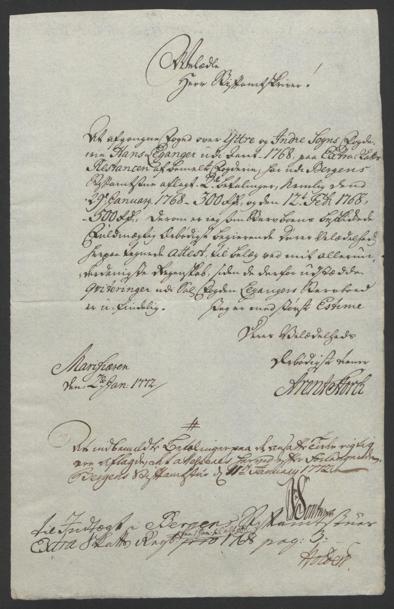 RA, Rentekammeret inntil 1814, Realistisk ordnet avdeling, Ol/L0018: [Gg 10]: Ekstraskatten, 23.09.1762. Sogn, 1762-1772, s. 107