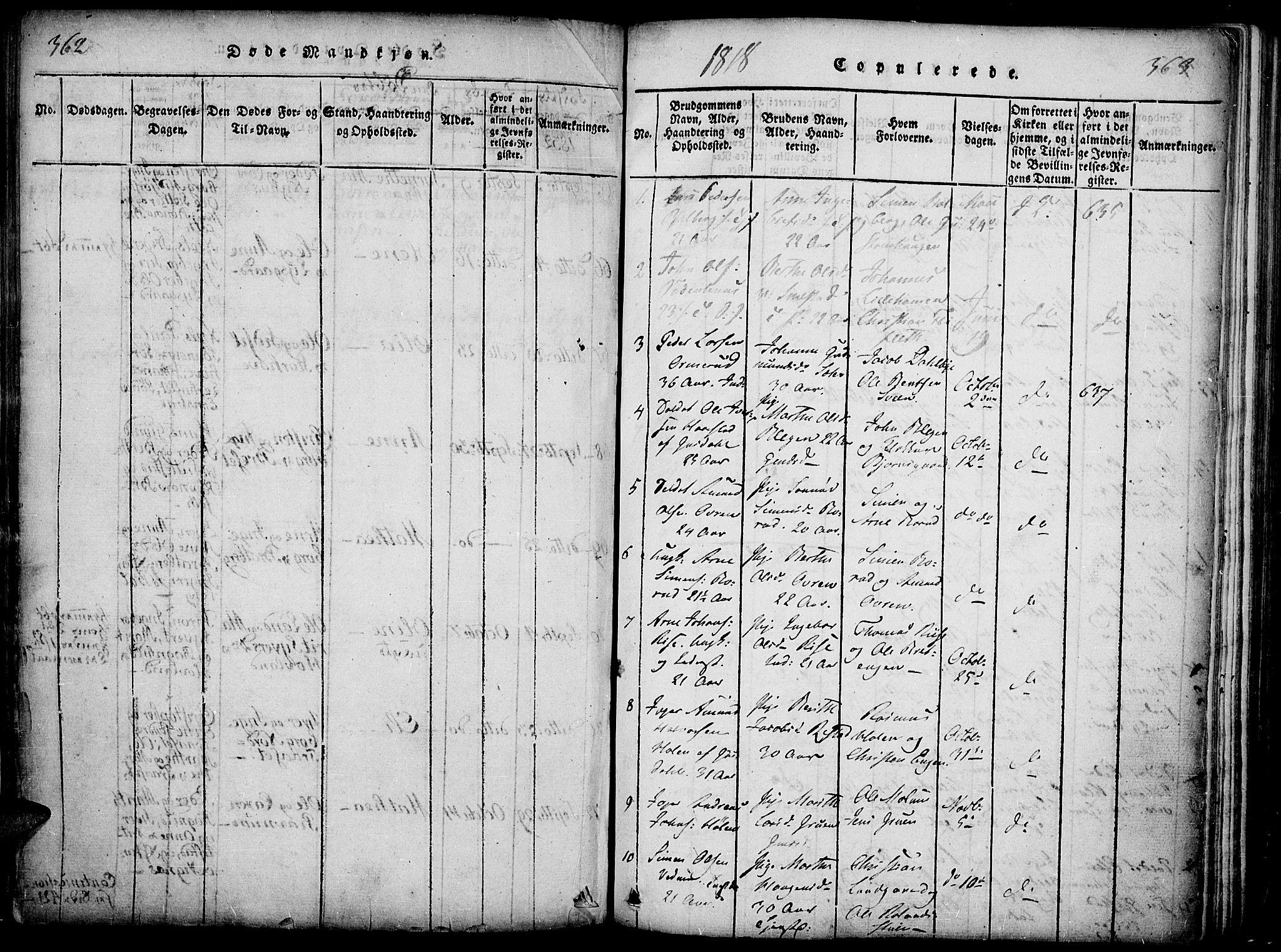 SAH, Fåberg prestekontor, Ministerialbok nr. 3, 1818-1833, s. 362-363
