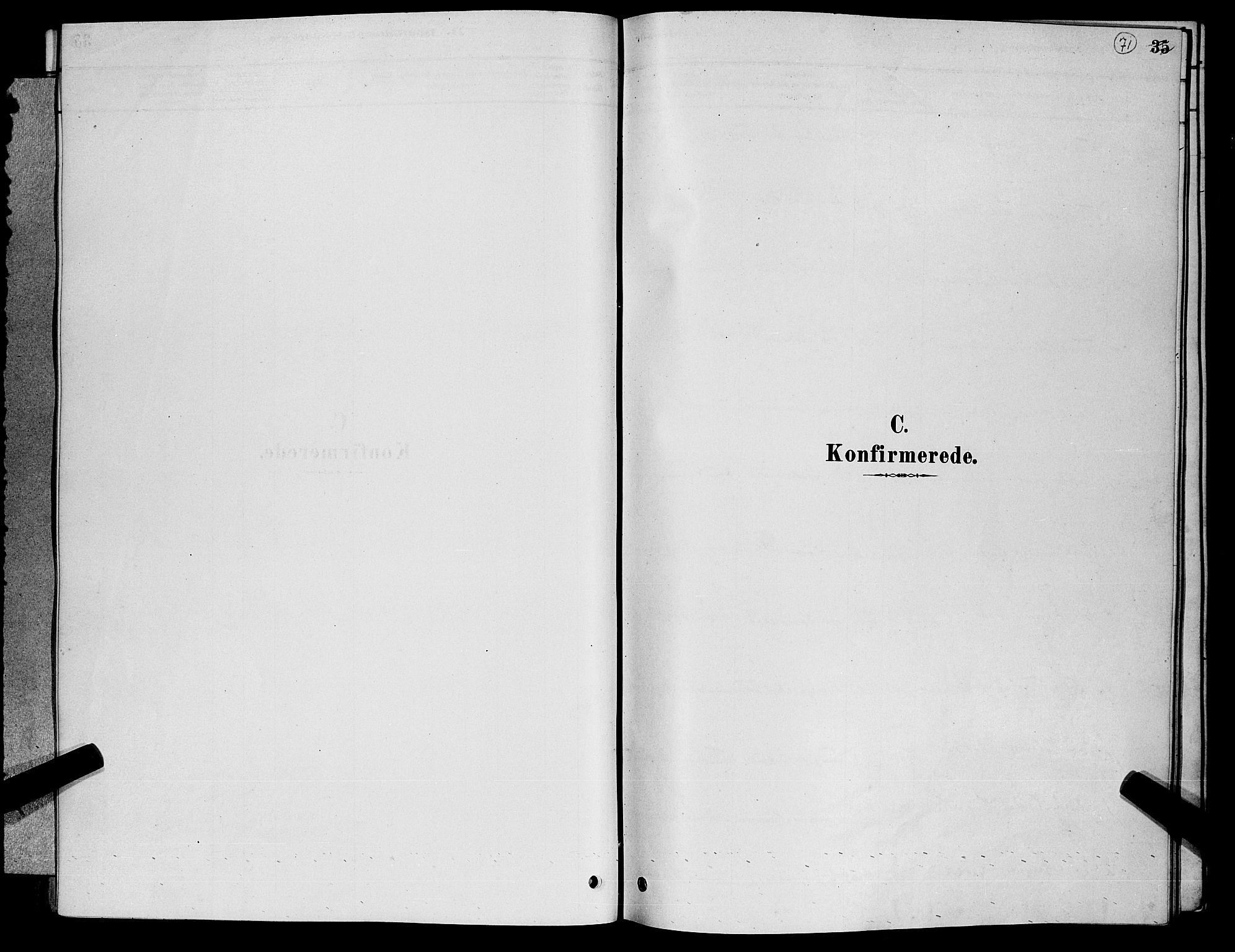SAKO, Nore kirkebøker, G/Gb/L0002: Klokkerbok nr. II 2, 1878-1894, s. 71