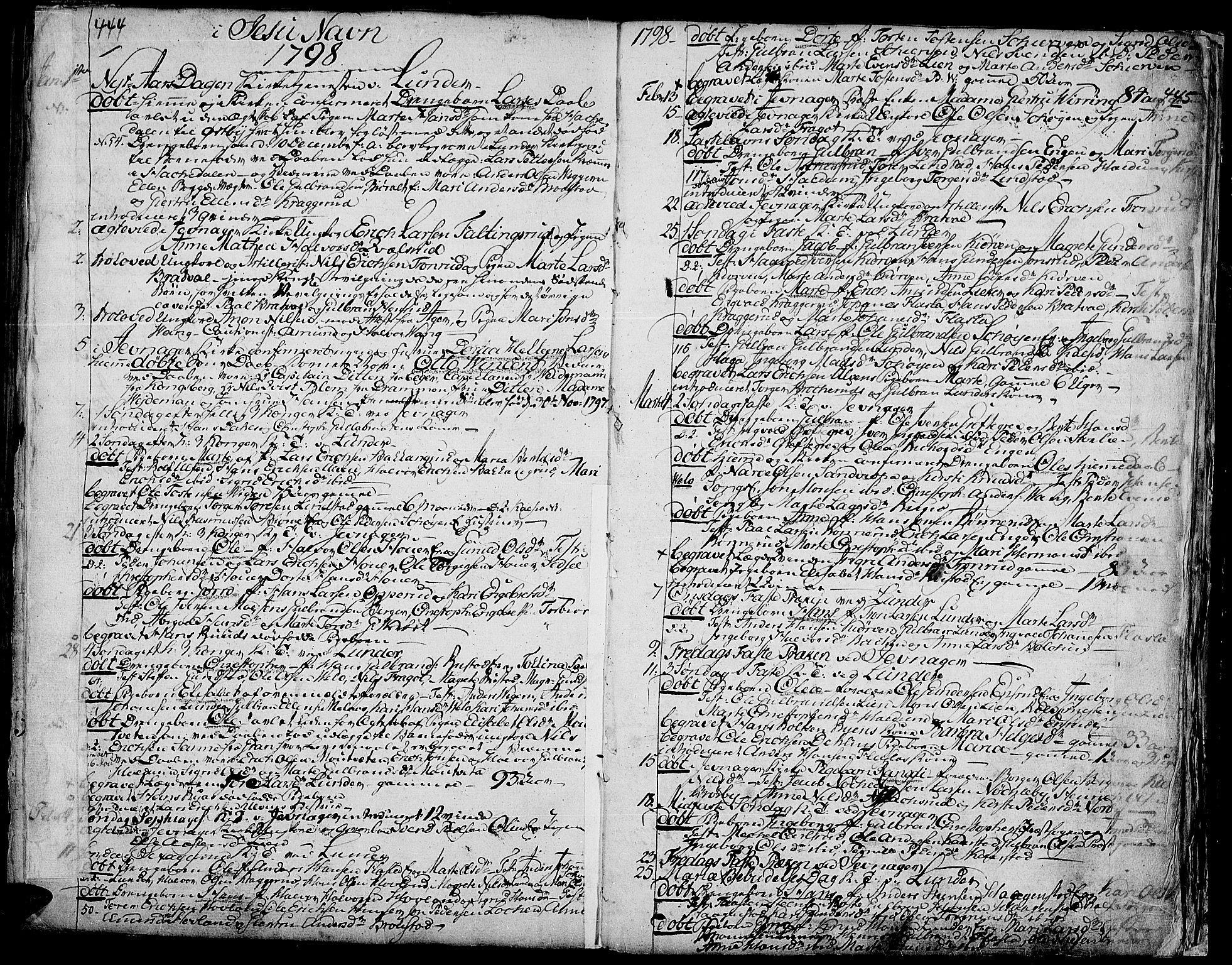 SAH, Jevnaker prestekontor, Ministerialbok nr. 3, 1752-1799, s. 444-445