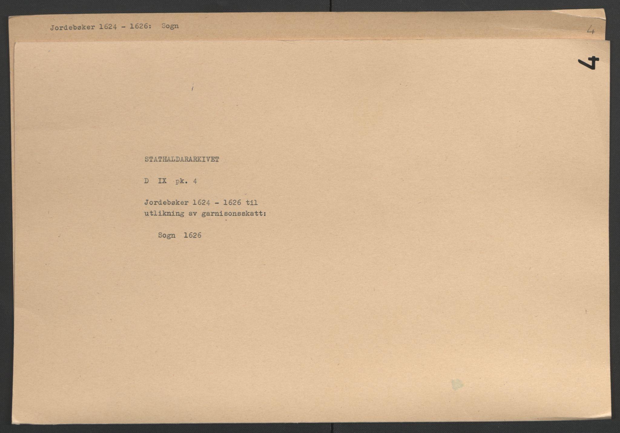 RA, Stattholderembetet 1572-1771, Ek/L0004: Jordebøker til utlikning av garnisonsskatt 1624-1626:, 1626, s. 174
