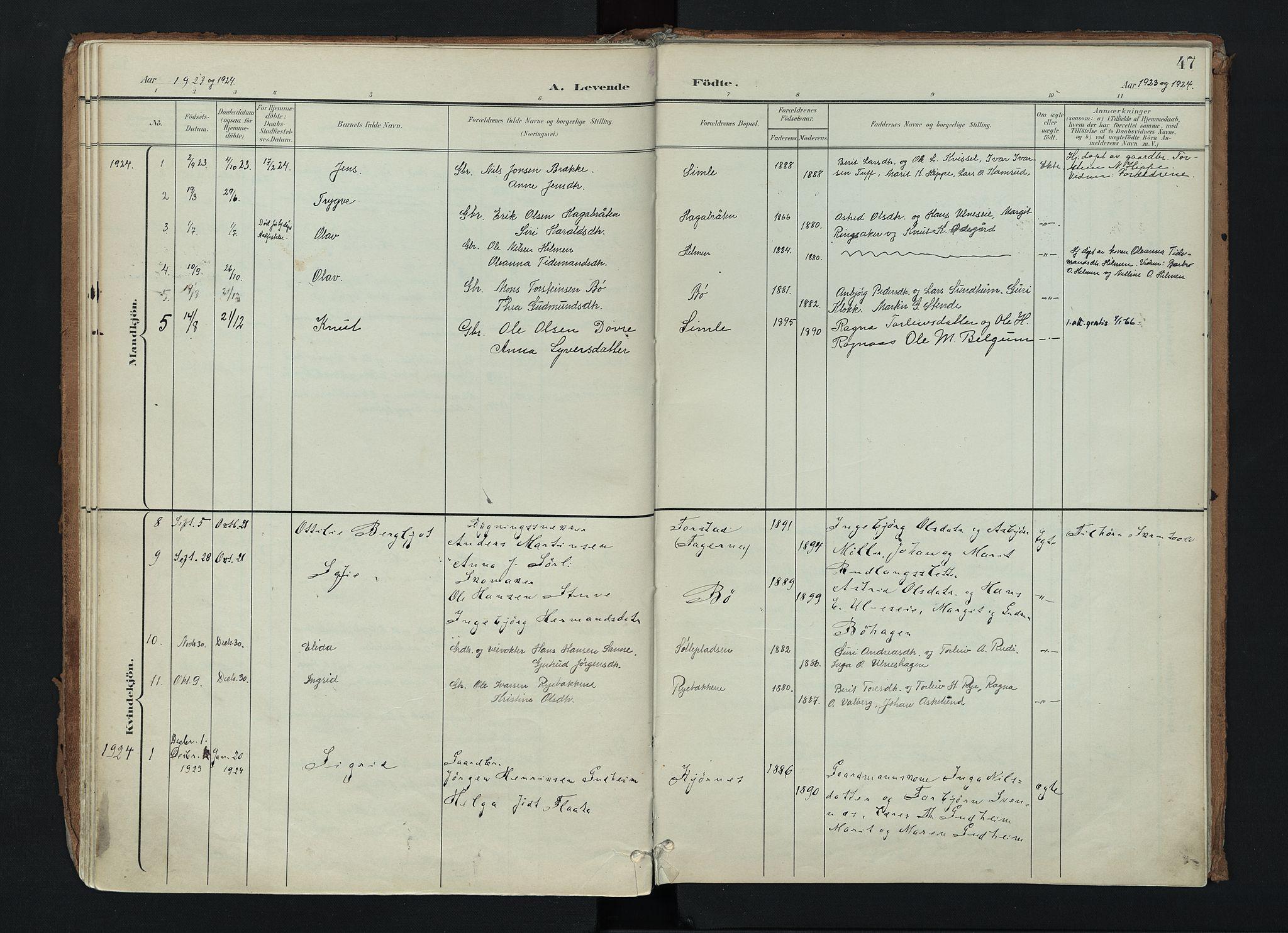 SAH, Nord-Aurdal prestekontor, Ministerialbok nr. 17, 1897-1926, s. 47