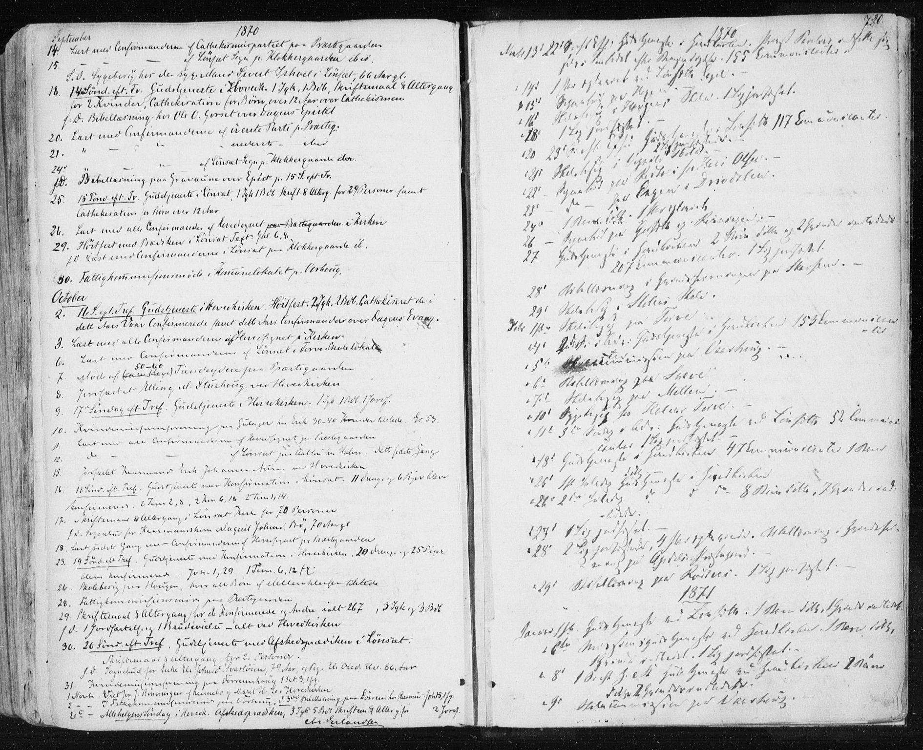 SAT, Ministerialprotokoller, klokkerbøker og fødselsregistre - Sør-Trøndelag, 678/L0899: Ministerialbok nr. 678A08, 1848-1872, s. 720