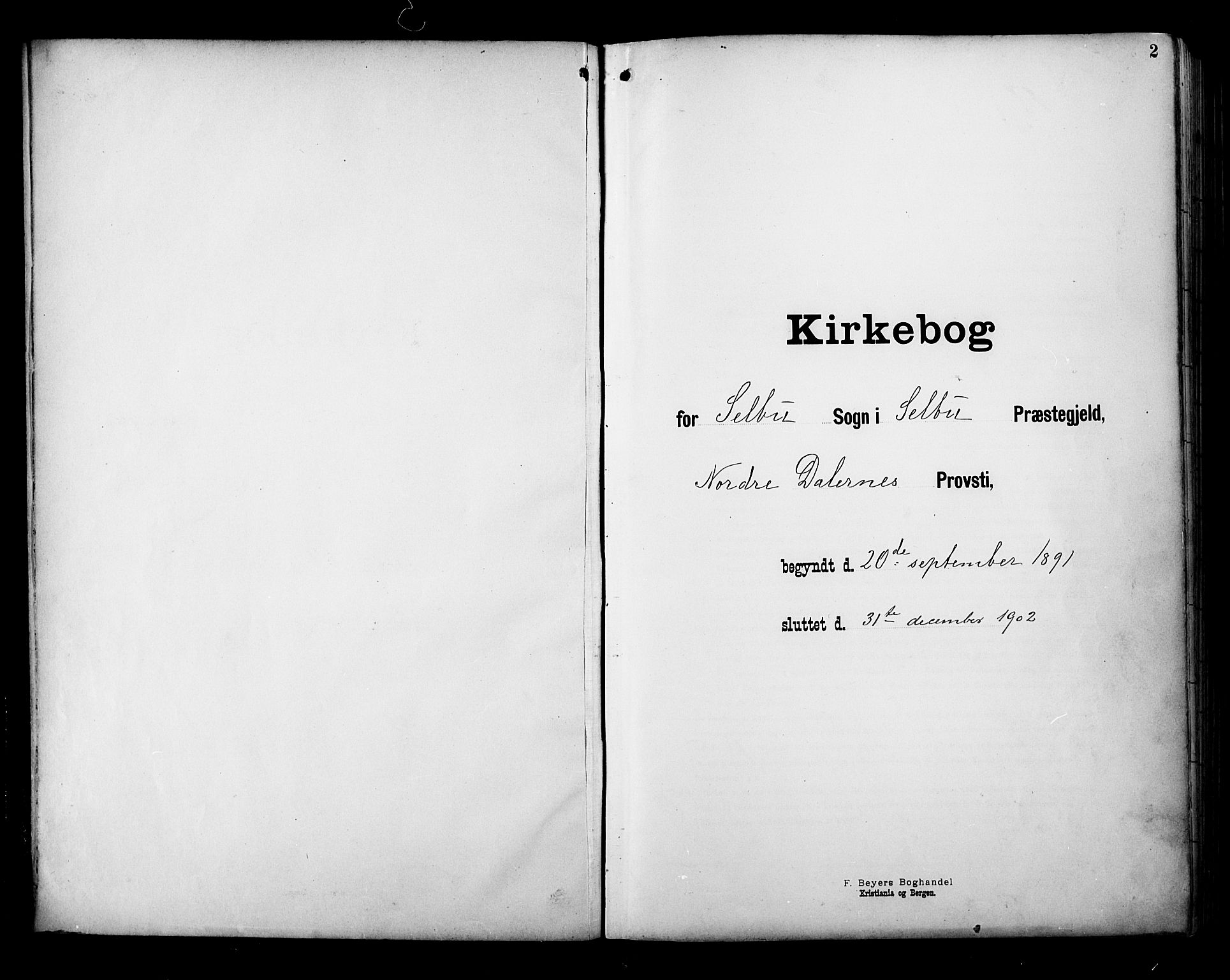 SAT, Ministerialprotokoller, klokkerbøker og fødselsregistre - Sør-Trøndelag, 695/L1149: Ministerialbok nr. 695A09, 1891-1902, s. 2