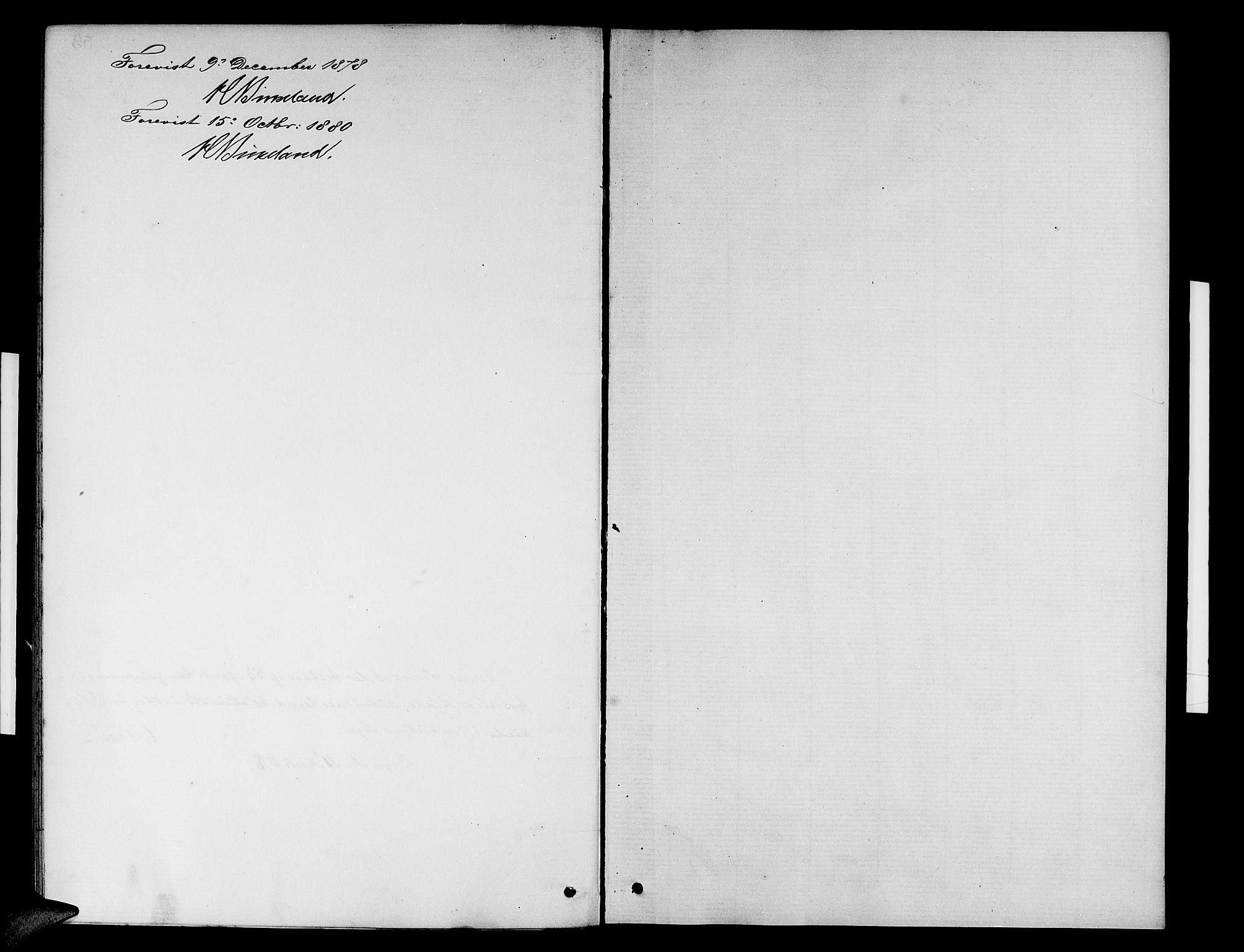 SAB, Domkirken Sokneprestembete, H/Hab/L0031: Klokkerbok nr. D 3, 1877-1880