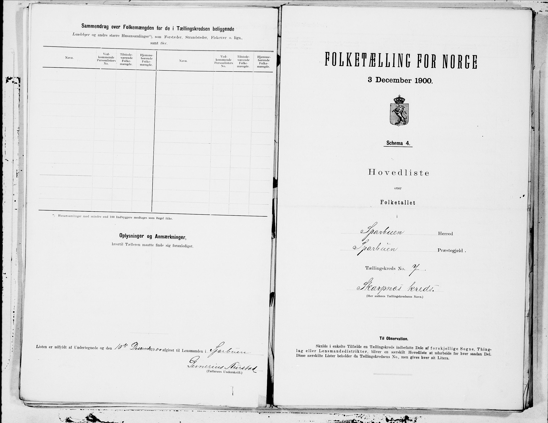 SAT, Folketelling 1900 for 1731 Sparbu herred, 1900, s. 16