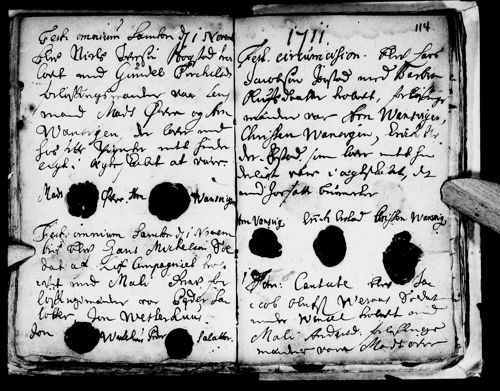 SAT, Ministerialprotokoller, klokkerbøker og fødselsregistre - Nord-Trøndelag, 722/L0214: Ministerialbok nr. 722A01, 1692-1718, s. 114
