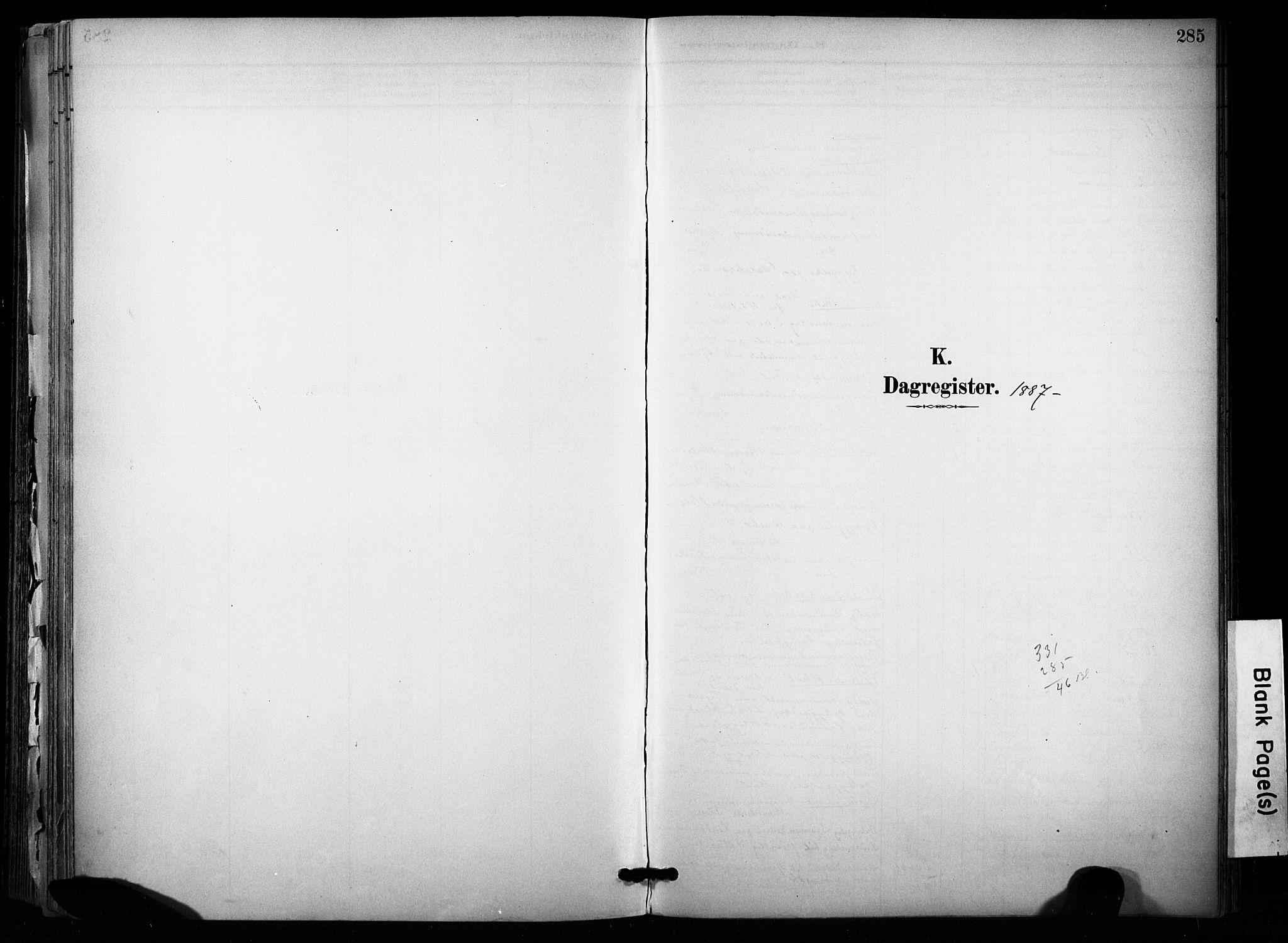SAKO, Sannidal kirkebøker, F/Fa/L0015: Ministerialbok nr. 15, 1884-1899, s. 285