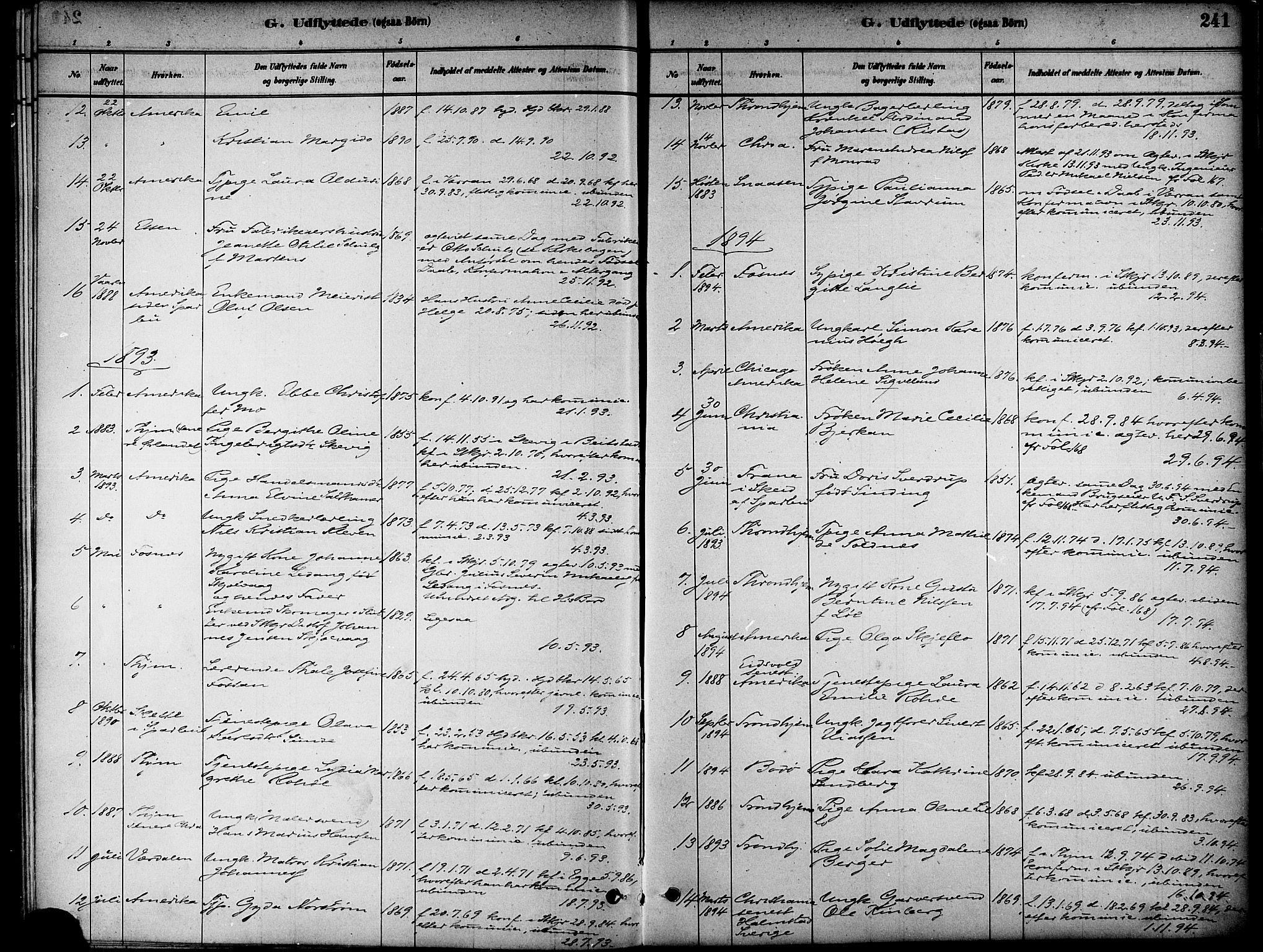 SAT, Ministerialprotokoller, klokkerbøker og fødselsregistre - Nord-Trøndelag, 739/L0371: Ministerialbok nr. 739A03, 1881-1895, s. 241