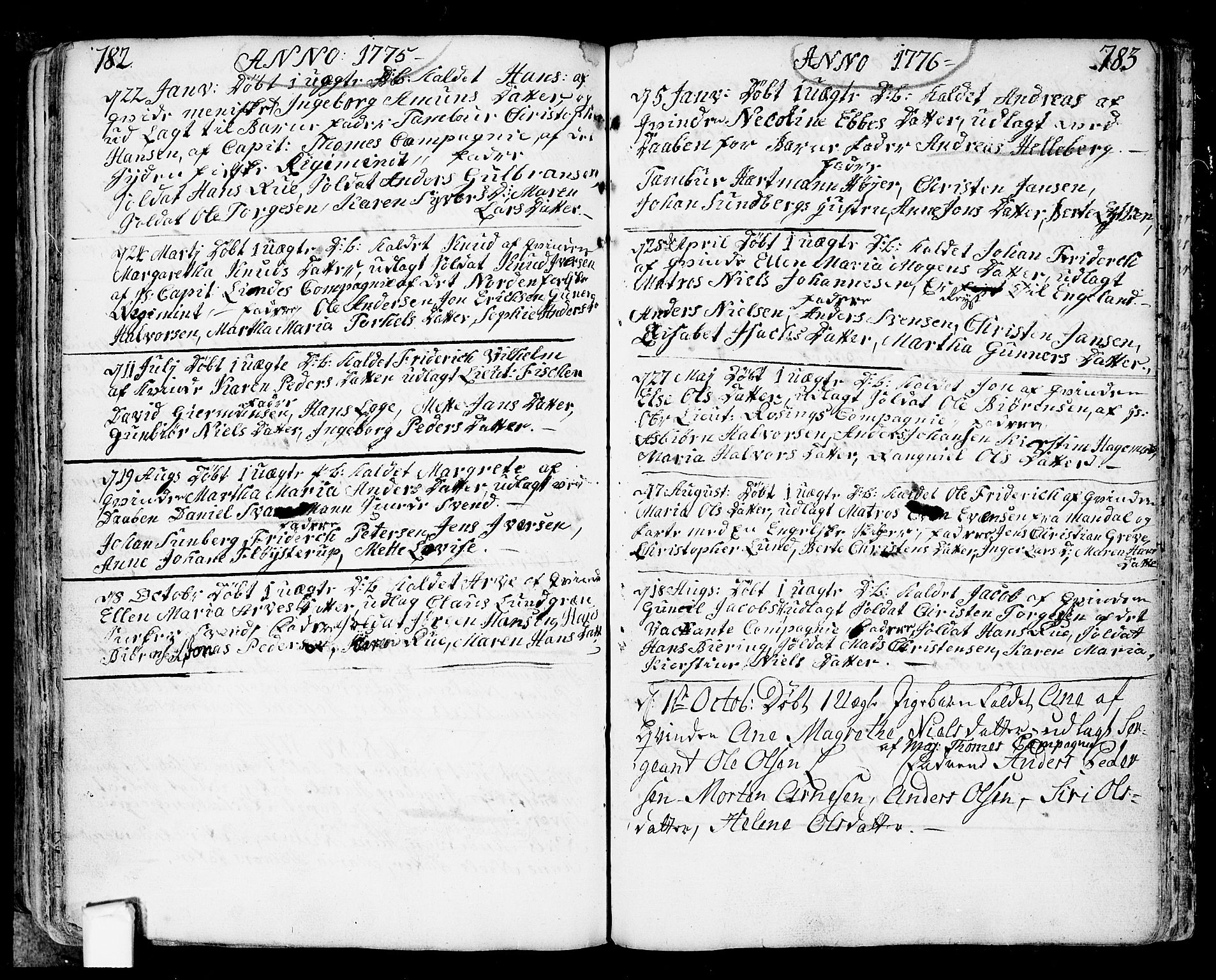 SAO, Fredrikstad prestekontor Kirkebøker, F/Fa/L0002: Ministerialbok nr. 2, 1750-1804, s. 782-783
