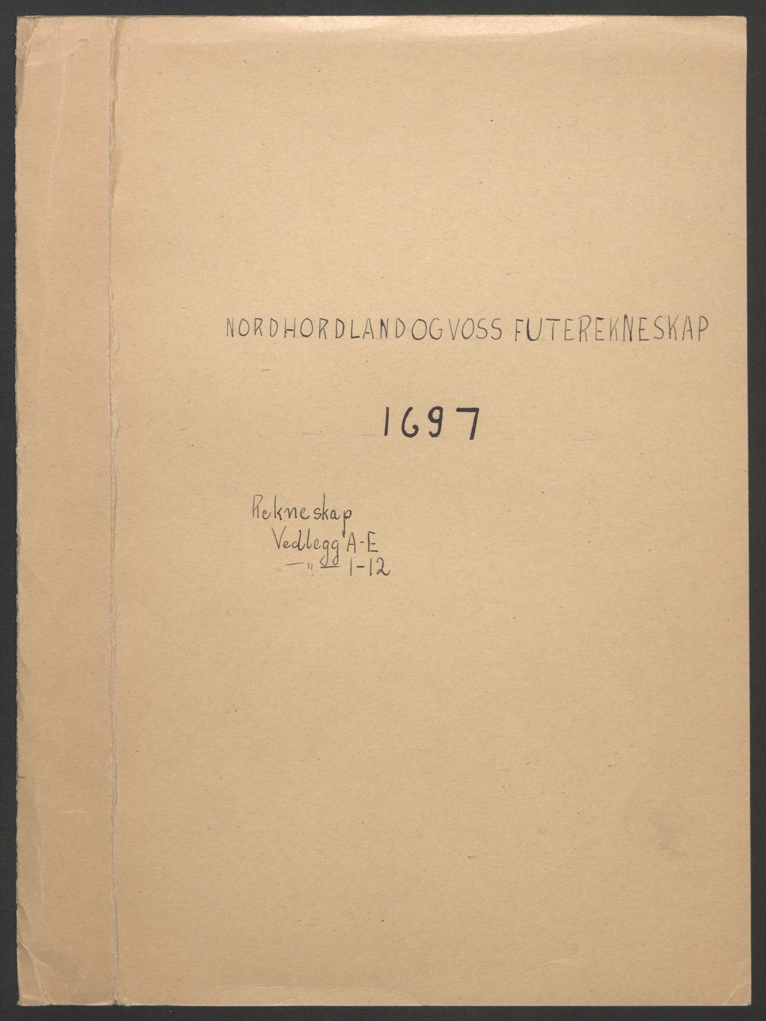 RA, Rentekammeret inntil 1814, Reviderte regnskaper, Fogderegnskap, R51/L3183: Fogderegnskap Nordhordland og Voss, 1695-1697, s. 301