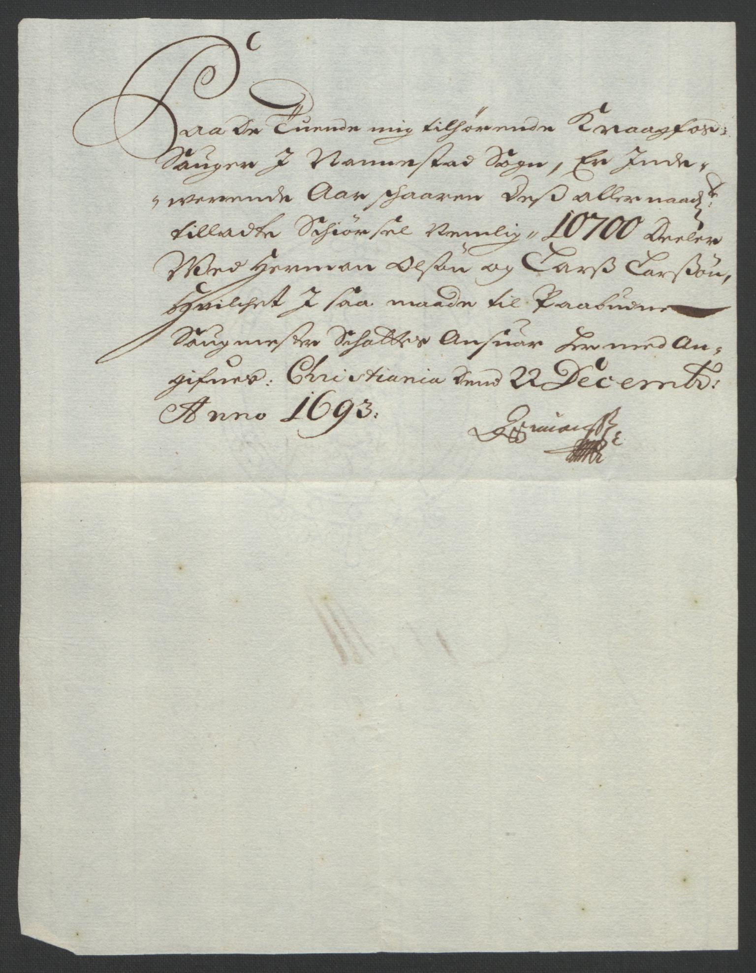 RA, Rentekammeret inntil 1814, Reviderte regnskaper, Fogderegnskap, R12/L0705: Fogderegnskap Øvre Romerike, 1693, s. 241