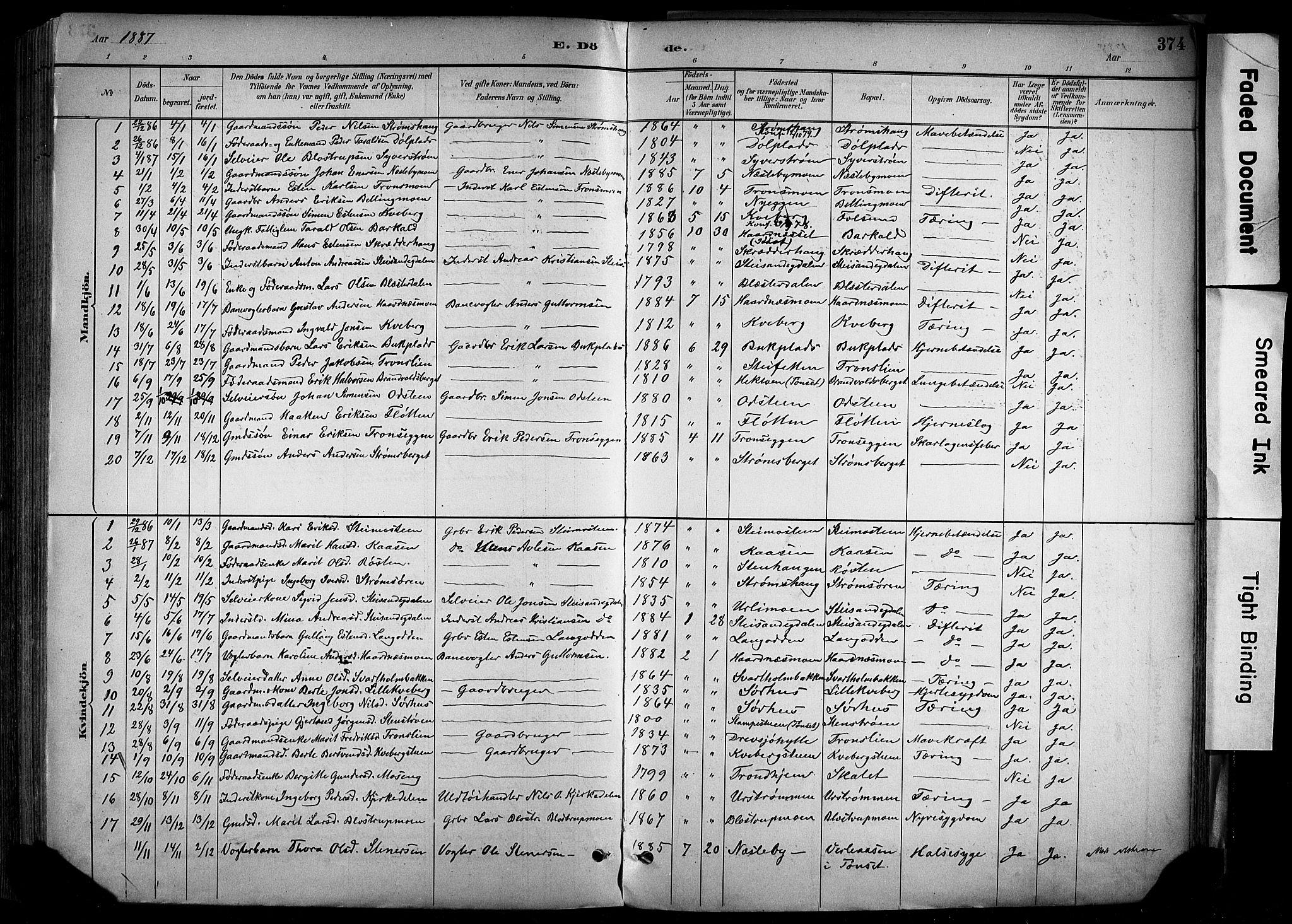 SAH, Alvdal prestekontor, Ministerialbok nr. 2, 1883-1906, s. 374