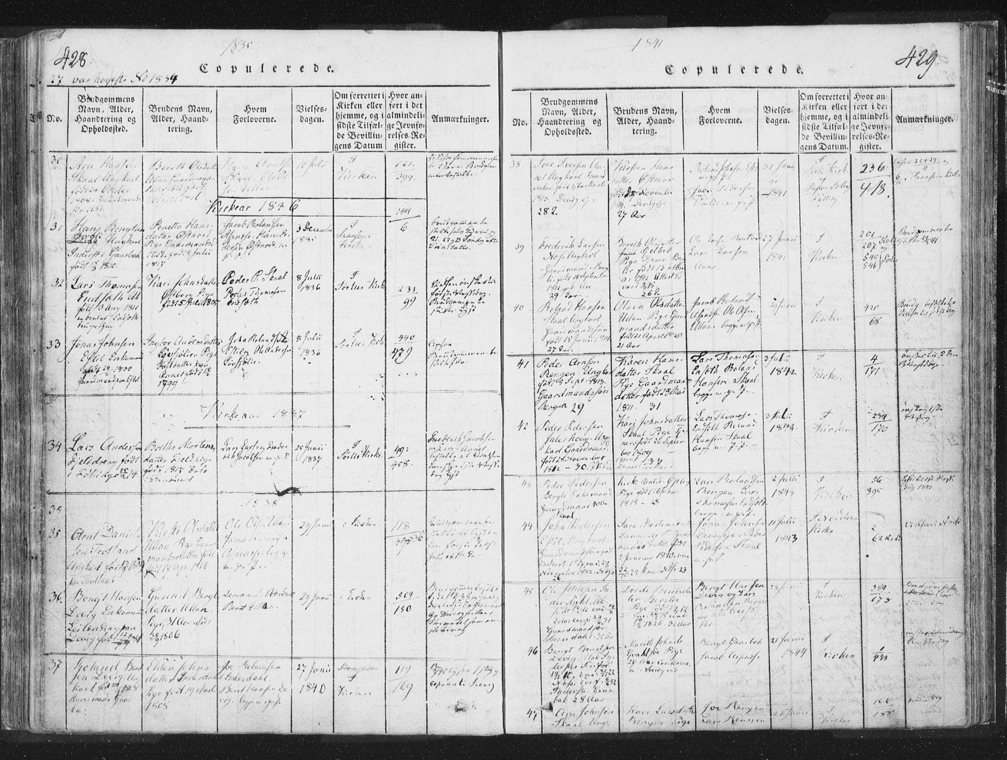 SAT, Ministerialprotokoller, klokkerbøker og fødselsregistre - Nord-Trøndelag, 755/L0491: Ministerialbok nr. 755A01 /2, 1817-1864, s. 428-429
