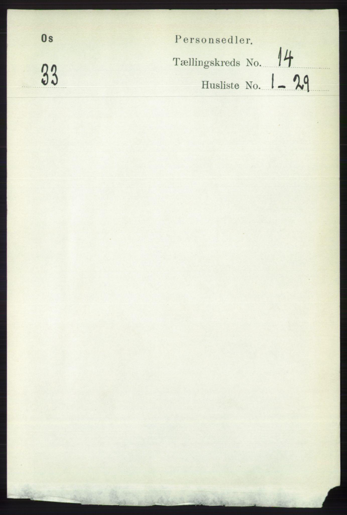 RA, Folketelling 1891 for 1243 Os herred, 1891, s. 3087