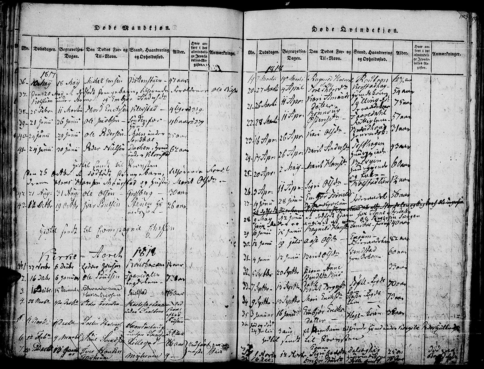 SAH, Fron prestekontor, H/Ha/Haa/L0002: Ministerialbok nr. 2, 1816-1827, s. 102
