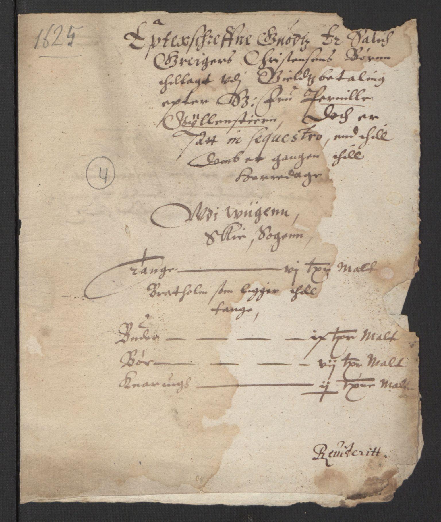 RA, Stattholderembetet 1572-1771, Ek/L0007: Jordebøker til utlikning av rosstjeneste 1624-1626:, 1624-1625, s. 404