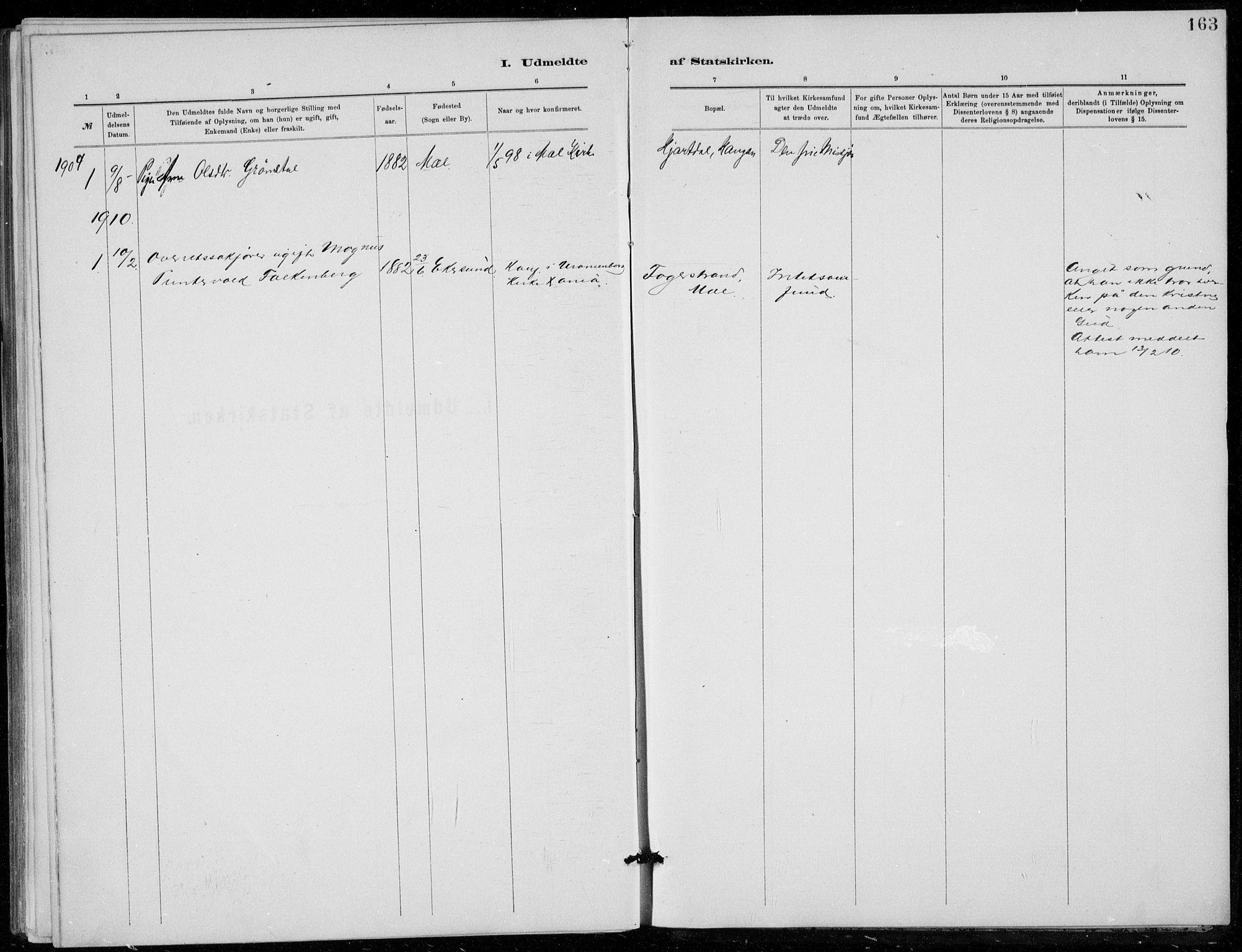 SAKO, Tinn kirkebøker, F/Fb/L0002: Ministerialbok nr. II 2, 1878-1917, s. 163