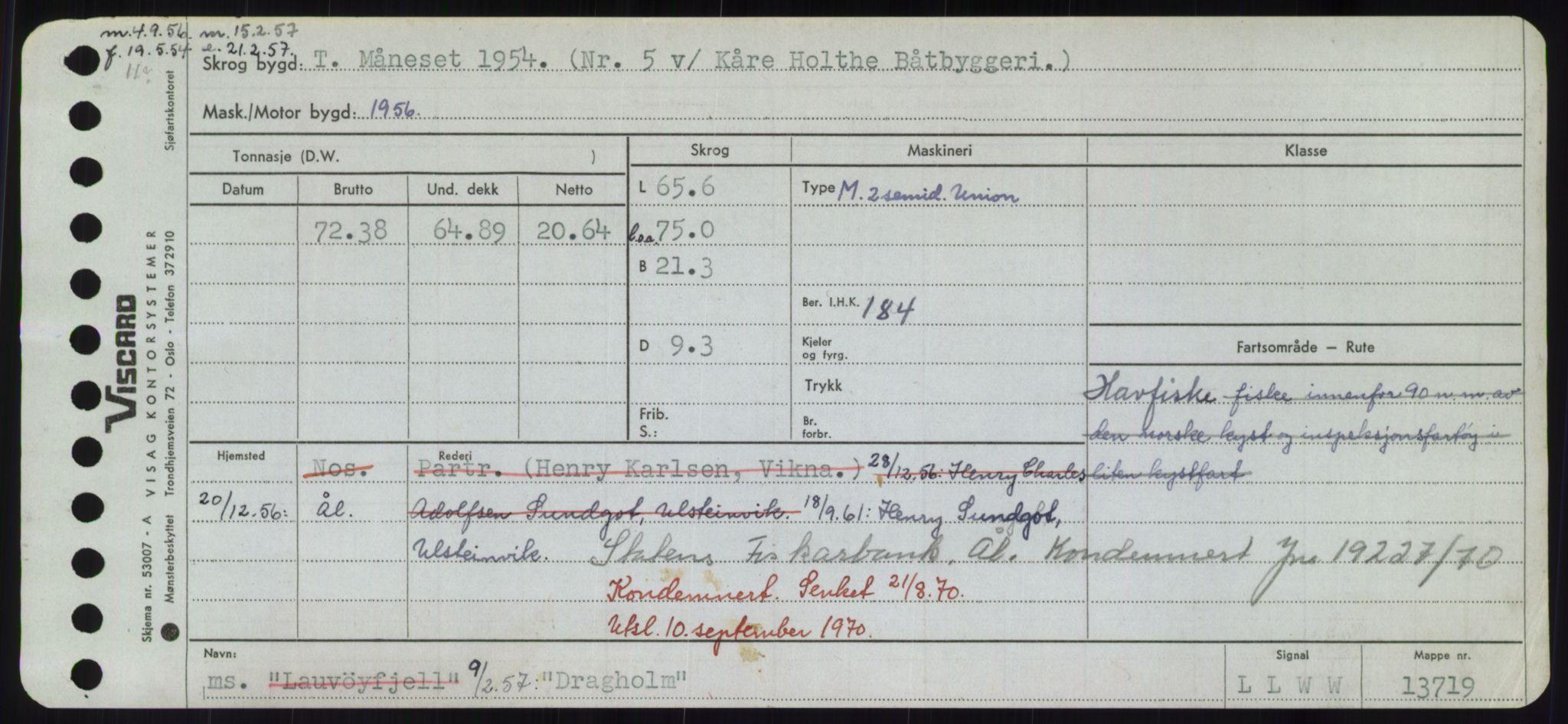 RA, Sjøfartsdirektoratet med forløpere, Skipsmålingen, H/Hd/L0008: Fartøy, C-D, s. 617