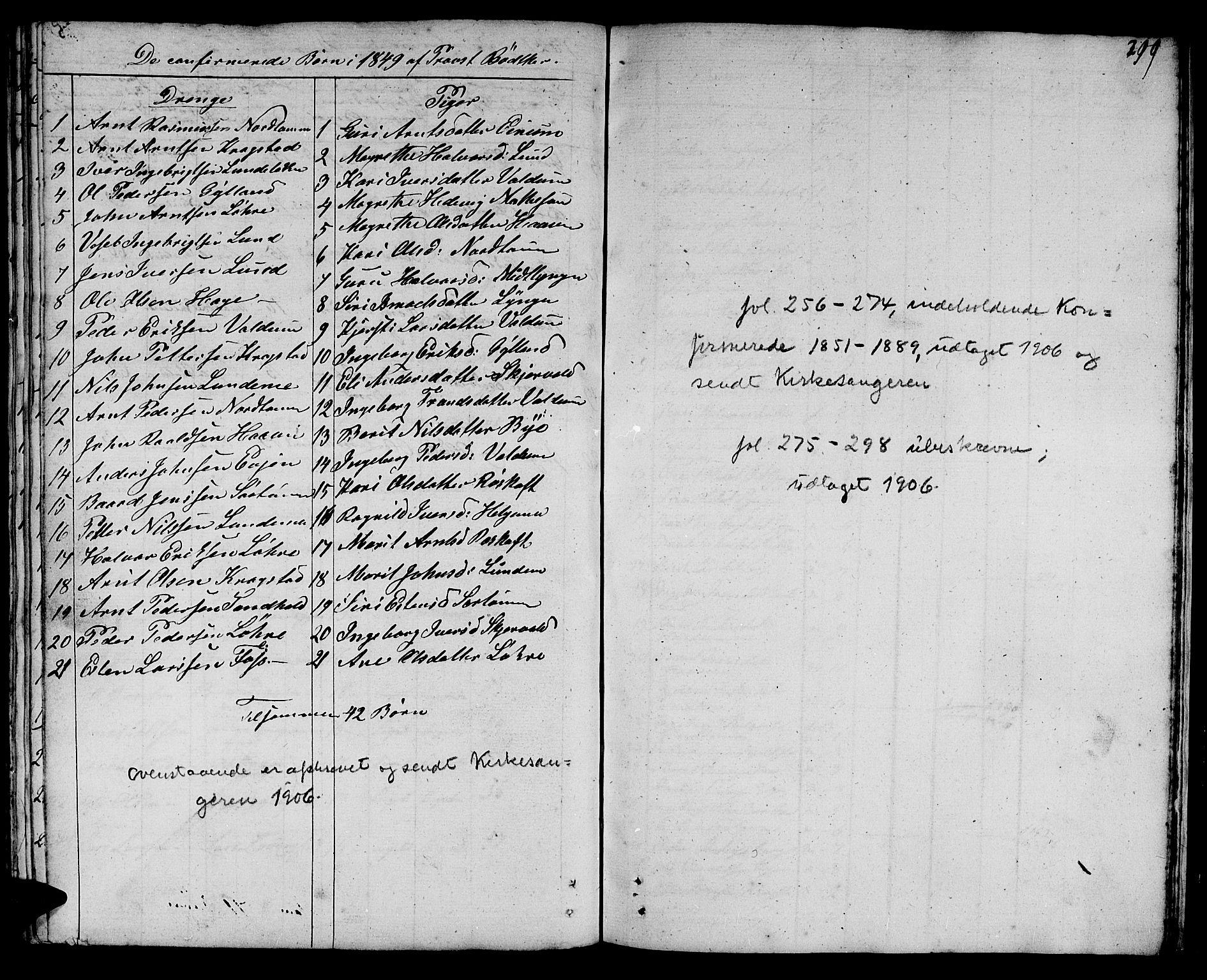 SAT, Ministerialprotokoller, klokkerbøker og fødselsregistre - Sør-Trøndelag, 692/L1108: Klokkerbok nr. 692C03, 1816-1833, s. 299