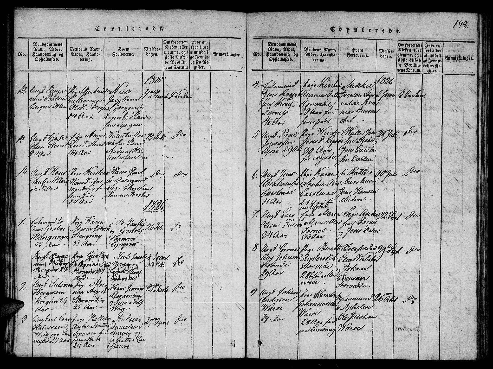 SAT, Ministerialprotokoller, klokkerbøker og fødselsregistre - Nord-Trøndelag, 784/L0667: Ministerialbok nr. 784A03 /1, 1816-1829, s. 198