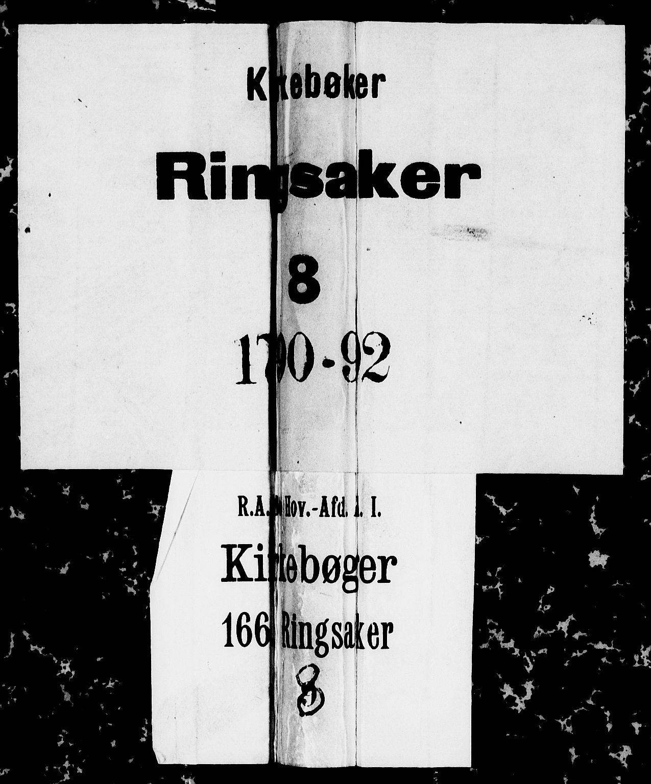 SAH, Ringsaker prestekontor, I/Ia/L0005/0005: Kladd til kirkebok nr. 1E, 1790-1792