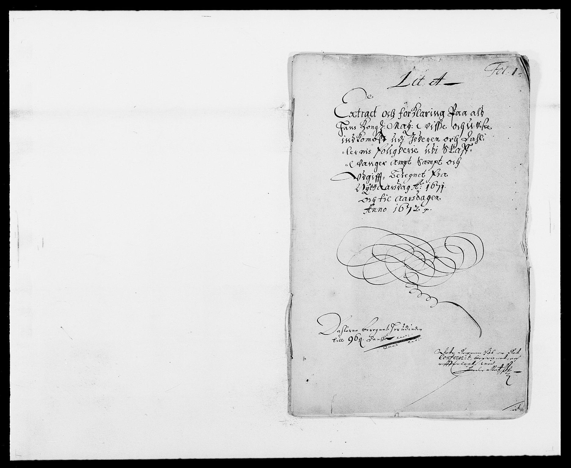 RA, Rentekammeret inntil 1814, Reviderte regnskaper, Fogderegnskap, R46/L2713: Fogderegnskap Jæren og Dalane, 1671-1672, s. 1
