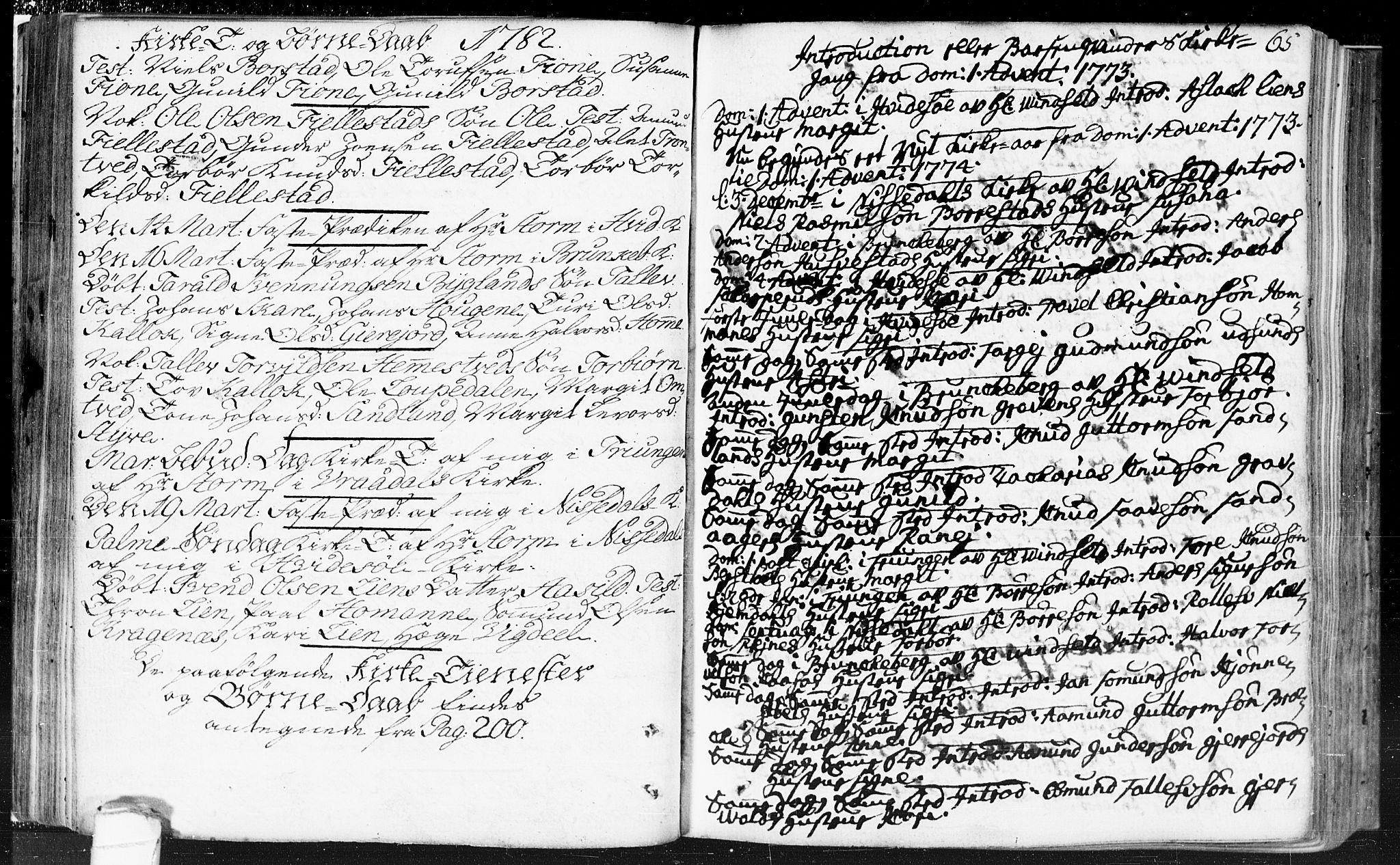 SAKO, Kviteseid kirkebøker, F/Fa/L0002: Ministerialbok nr. I 2, 1773-1786, s. 65