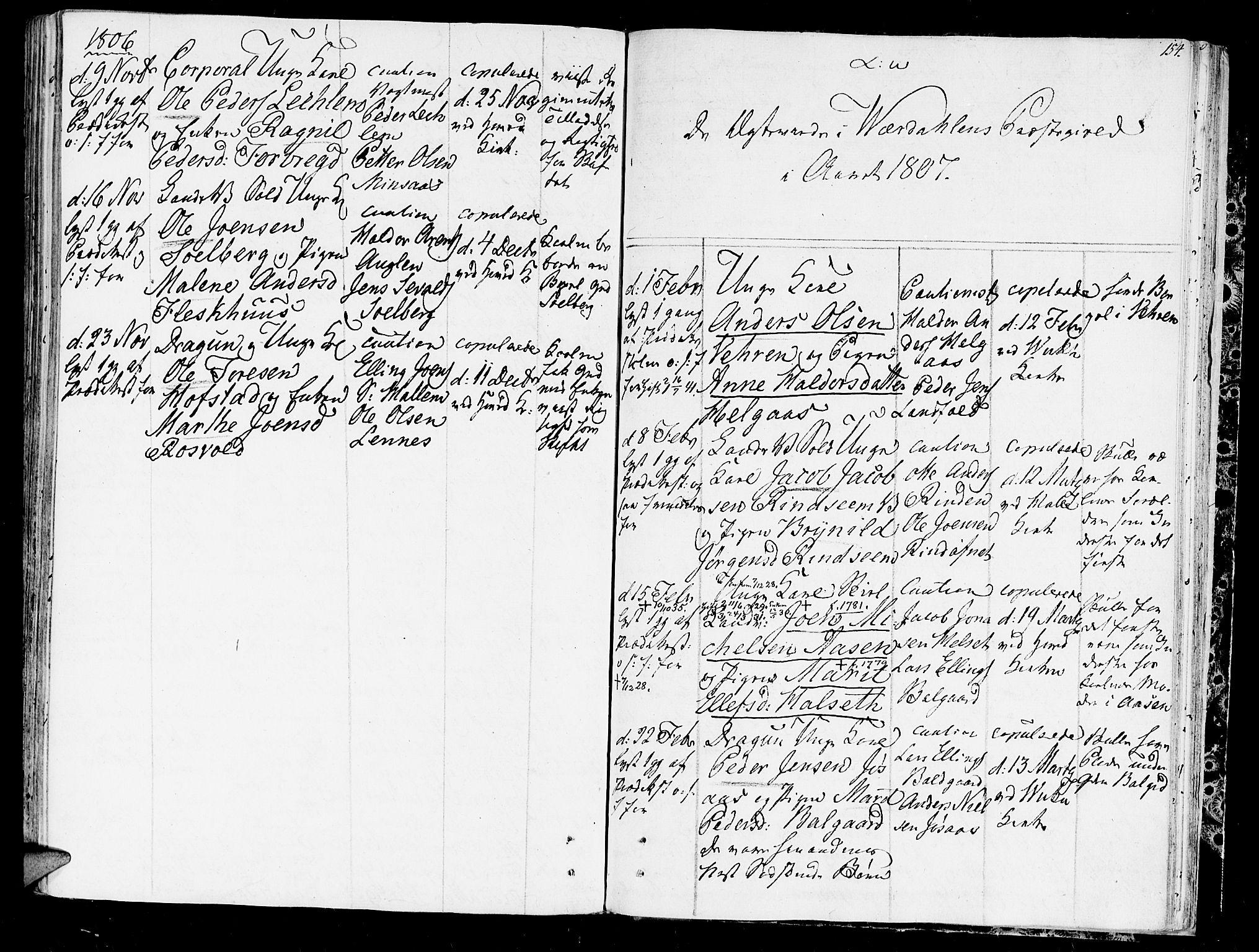 SAT, Ministerialprotokoller, klokkerbøker og fødselsregistre - Nord-Trøndelag, 723/L0233: Ministerialbok nr. 723A04, 1805-1816, s. 154