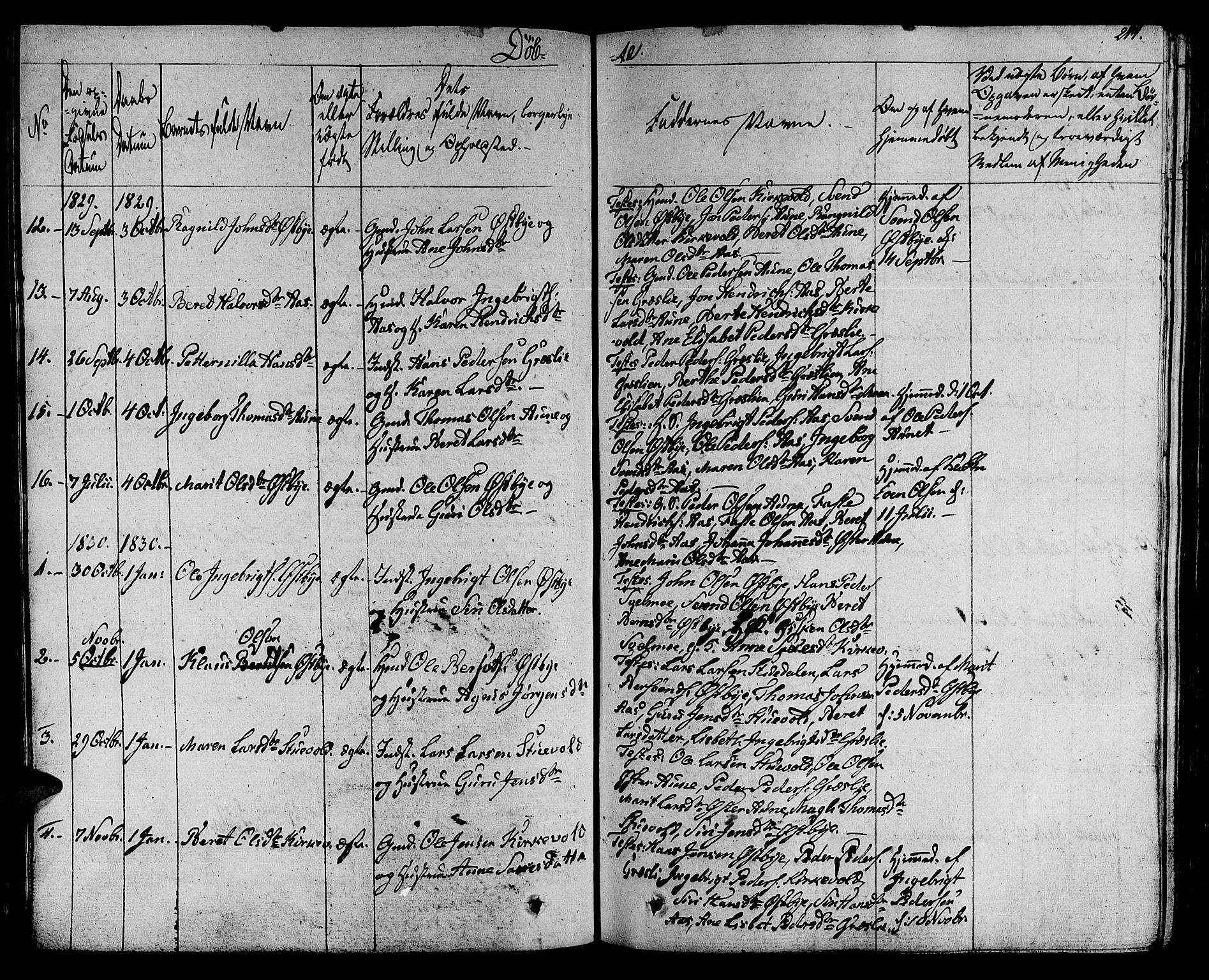 SAT, Ministerialprotokoller, klokkerbøker og fødselsregistre - Sør-Trøndelag, 695/L1144: Ministerialbok nr. 695A05 /2, 1824-1842, s. 214