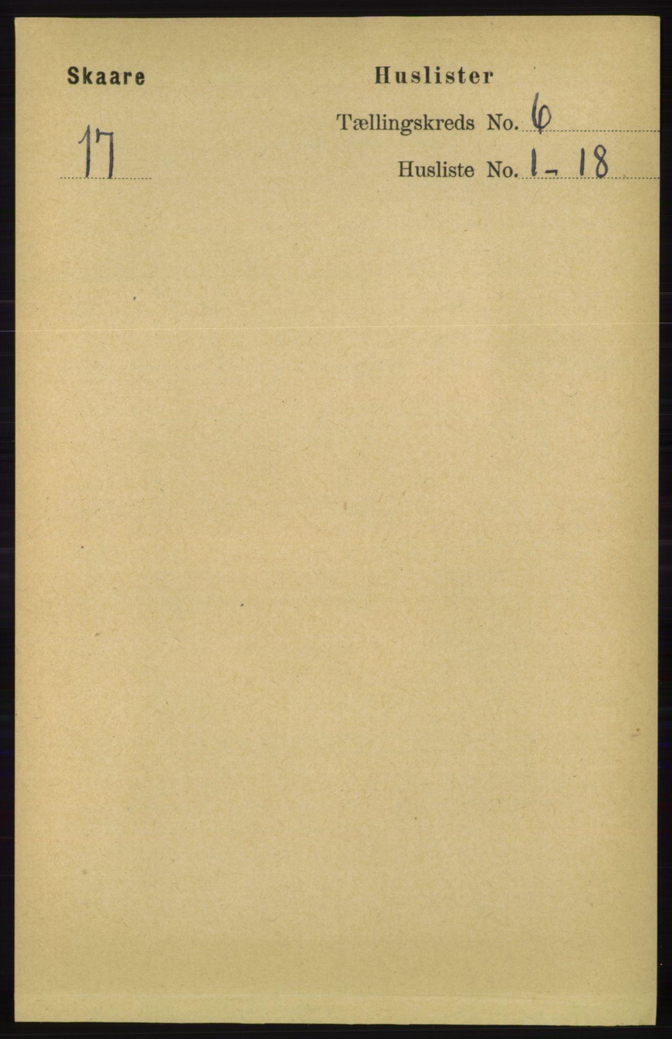 RA, Folketelling 1891 for 1153 Skåre herred, 1891, s. 2370