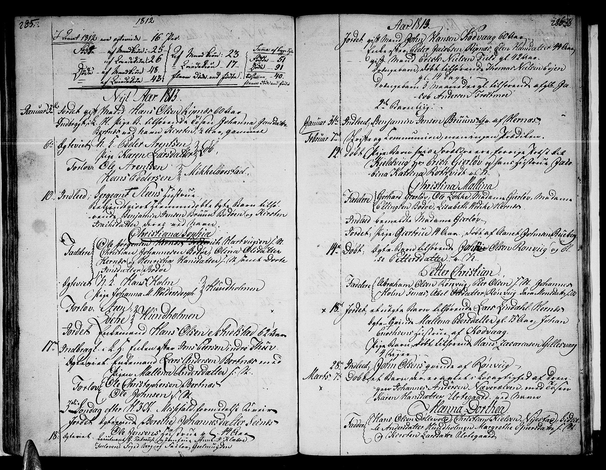 SAT, Ministerialprotokoller, klokkerbøker og fødselsregistre - Nordland, 801/L0004: Ministerialbok nr. 801A04, 1796-1817, s. 285-286